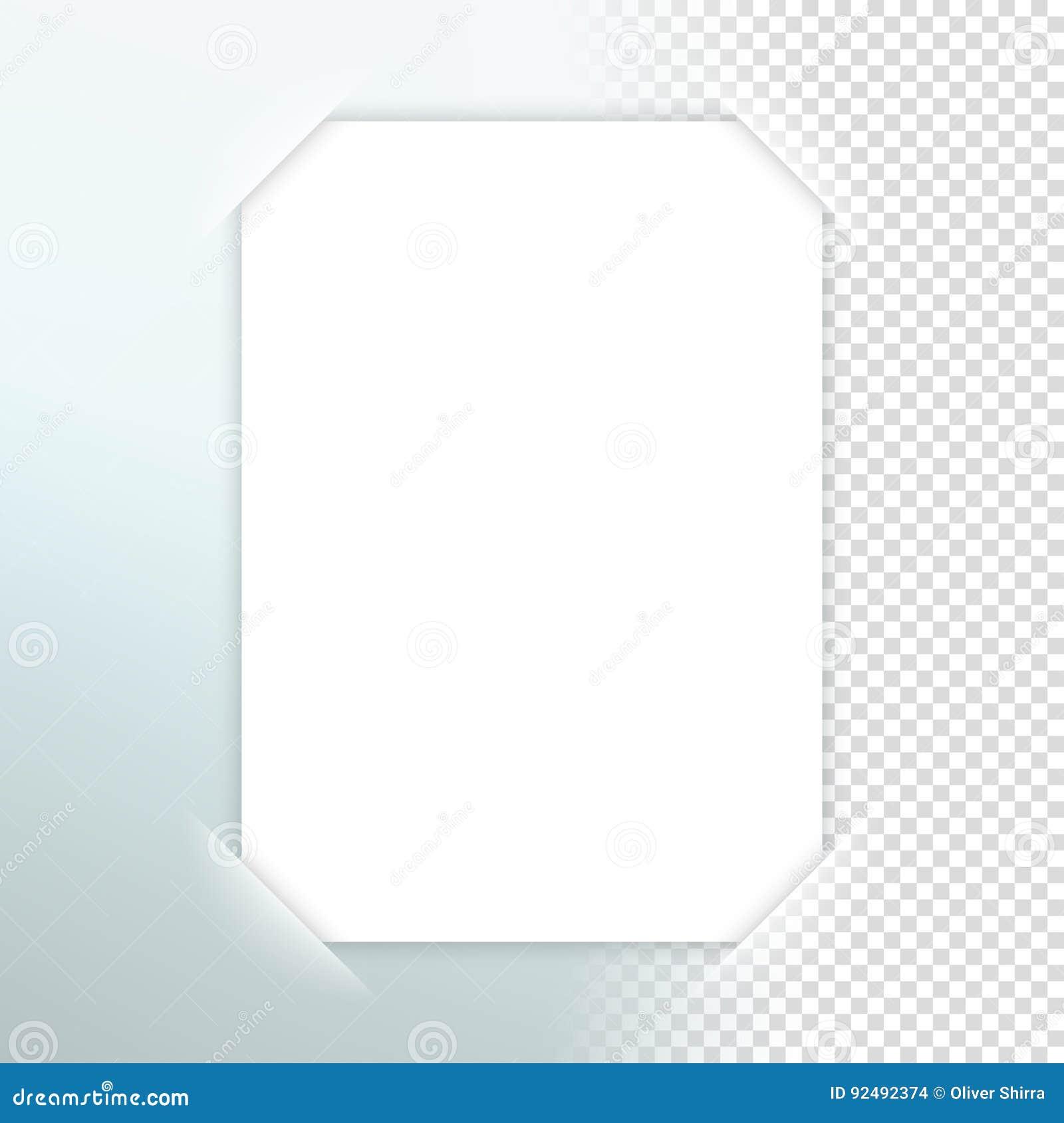Vektor-Papierrahmen Mit Transparentem Schatten Vektor Abbildung ...