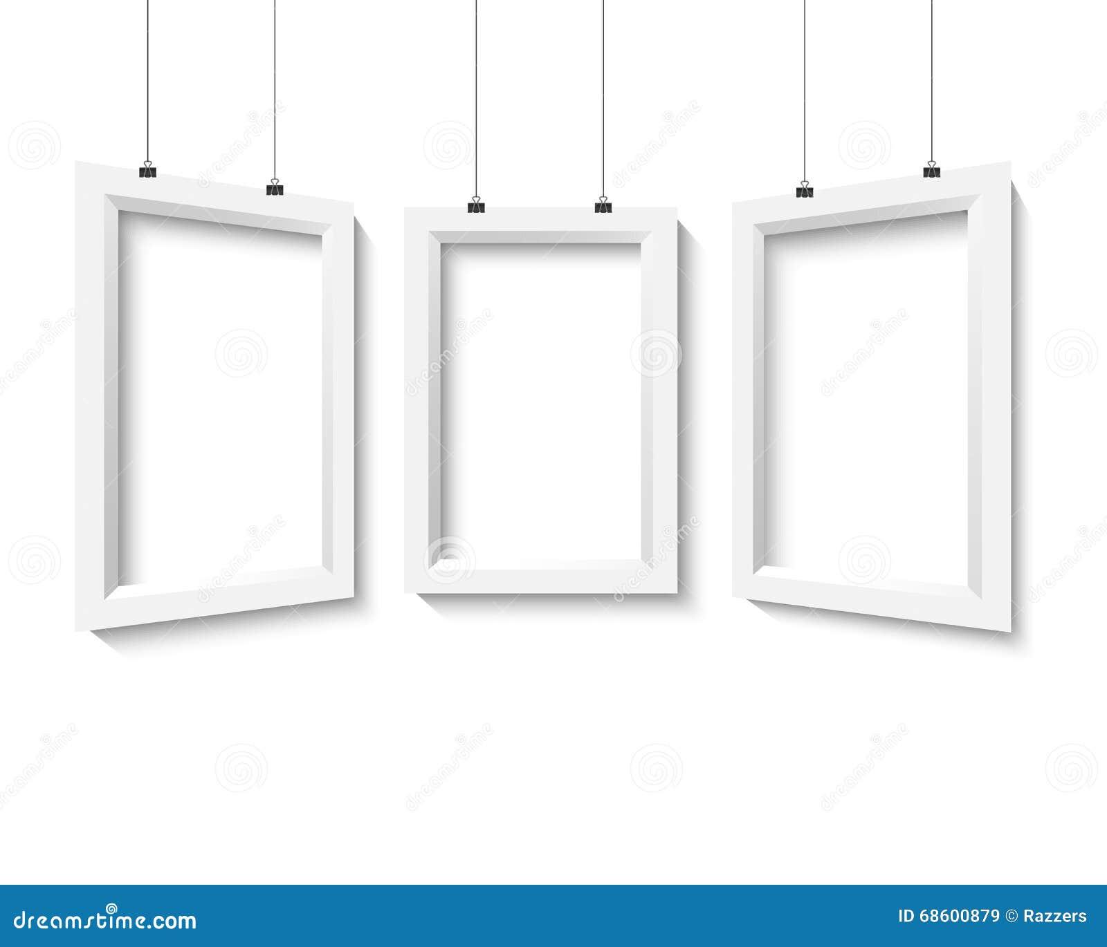 Vektor-Plakat-Rahmen-Modell-Satz Realistische Papier-Position Des ...