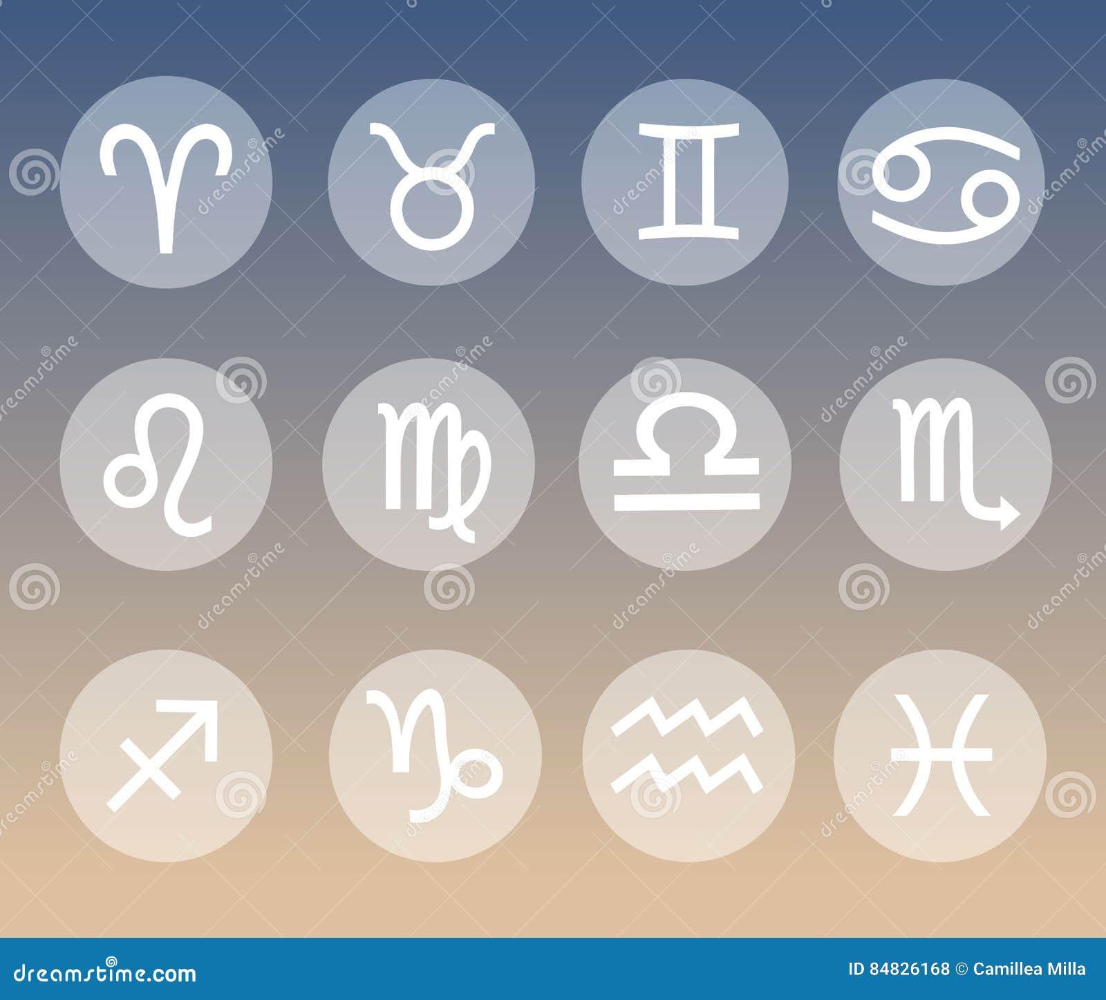 Vektor Planet Astrologisch Astronomische Symbol Satz Illustration
