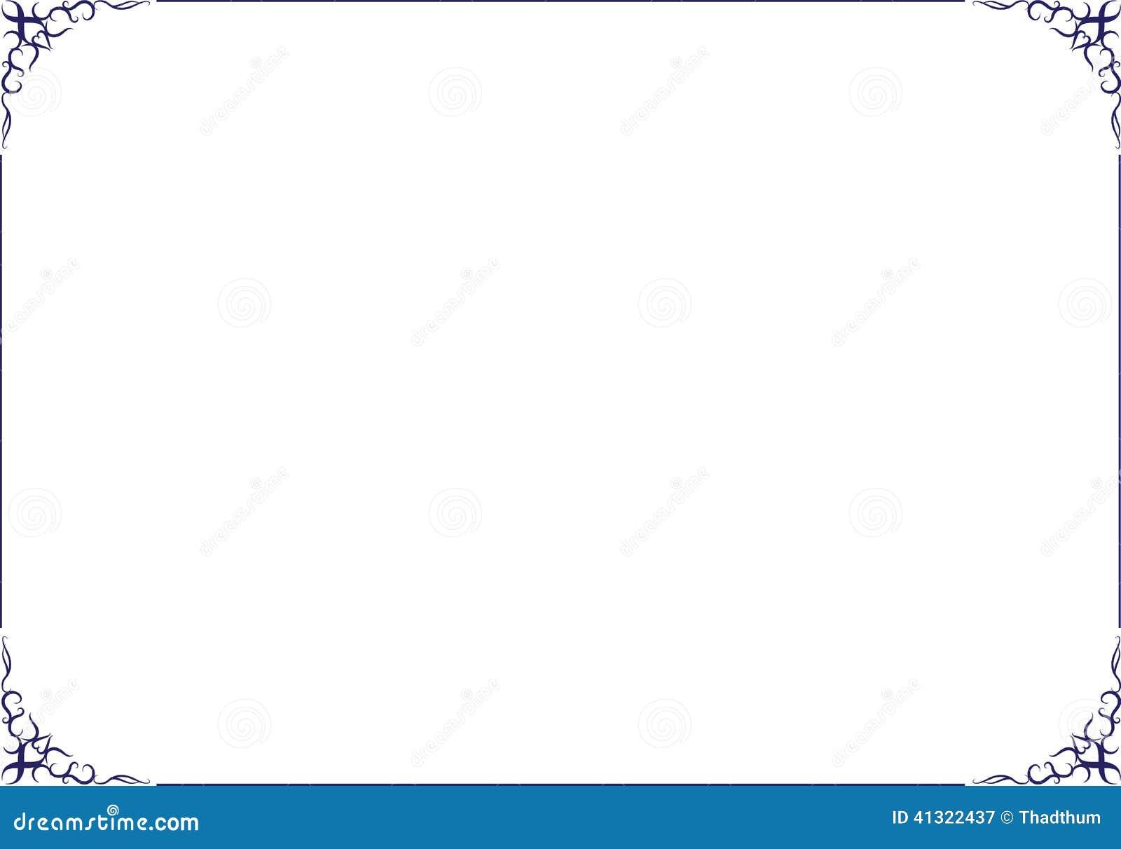 Vektor-Rahmen Und Grenzverzierung Vektor Abbildung - Illustration ...