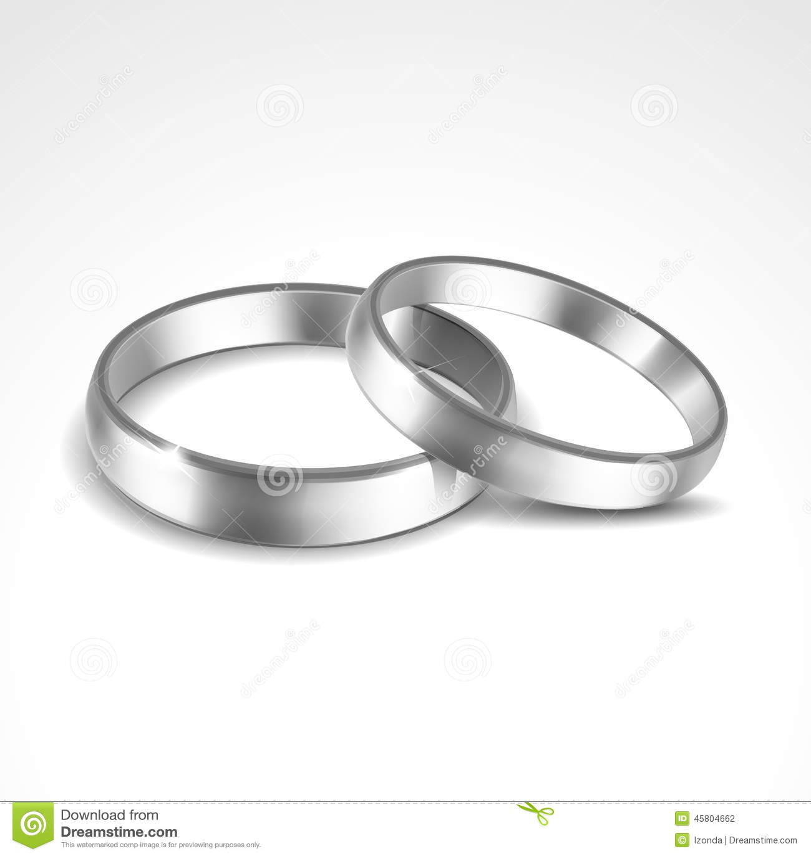 Interlocked Wedding Rings Clipart