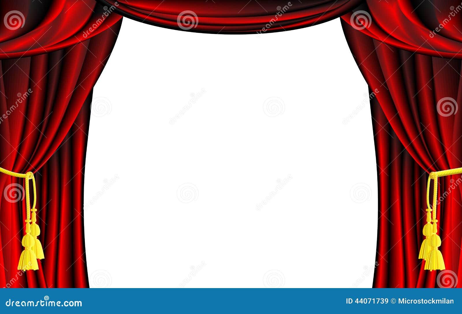 Vektor Theater Vorhang Vektor Abbildung