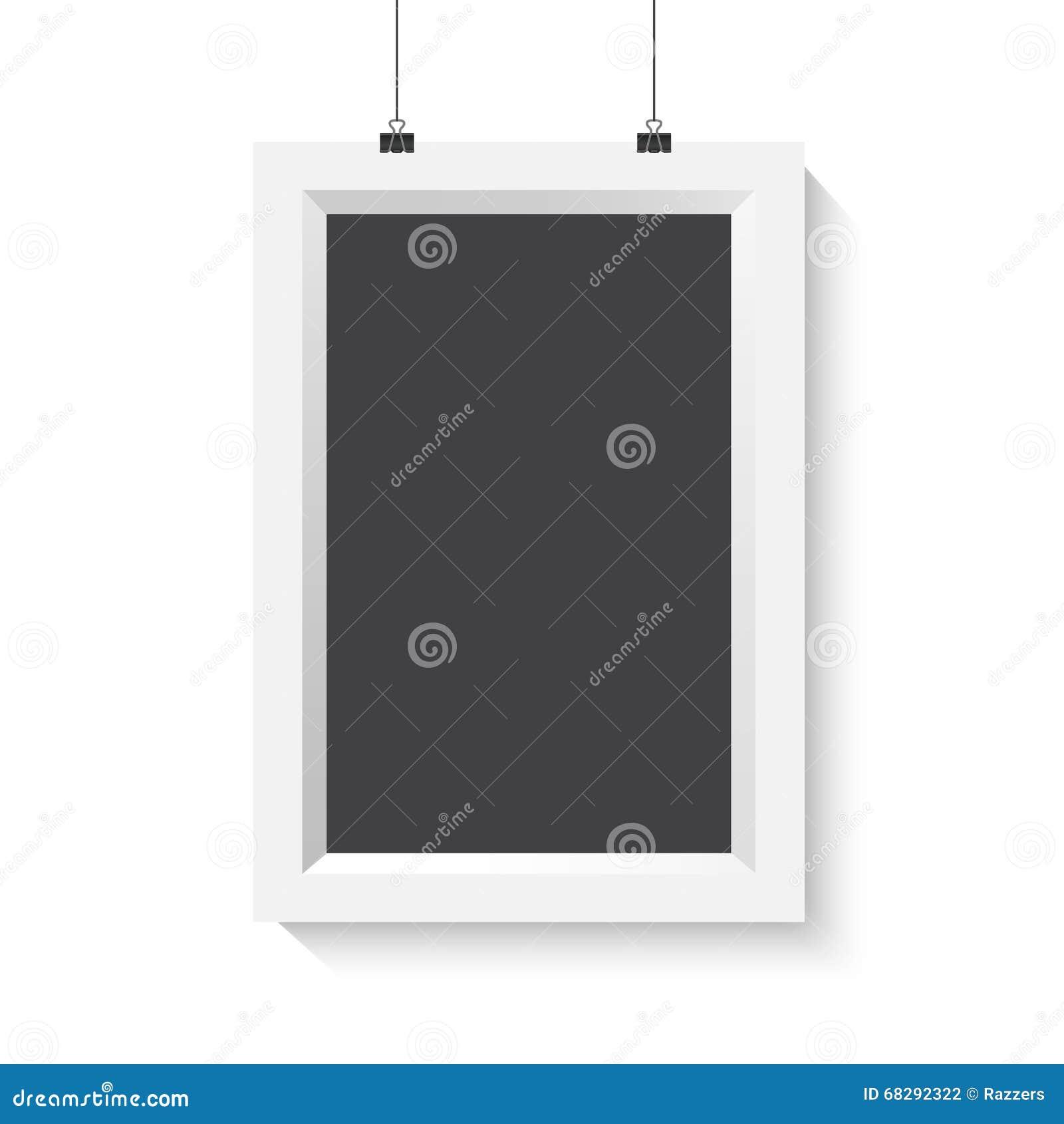 Vektor-vertikales Plakat-Rahmen-Modell Realistischer Vektor EPS10 ...