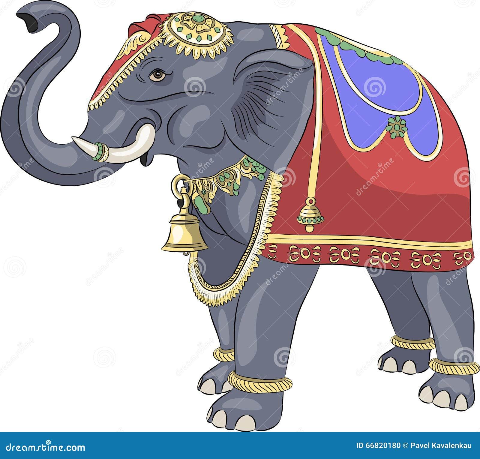 vektor verzierter indischer elefant vektor abbildung