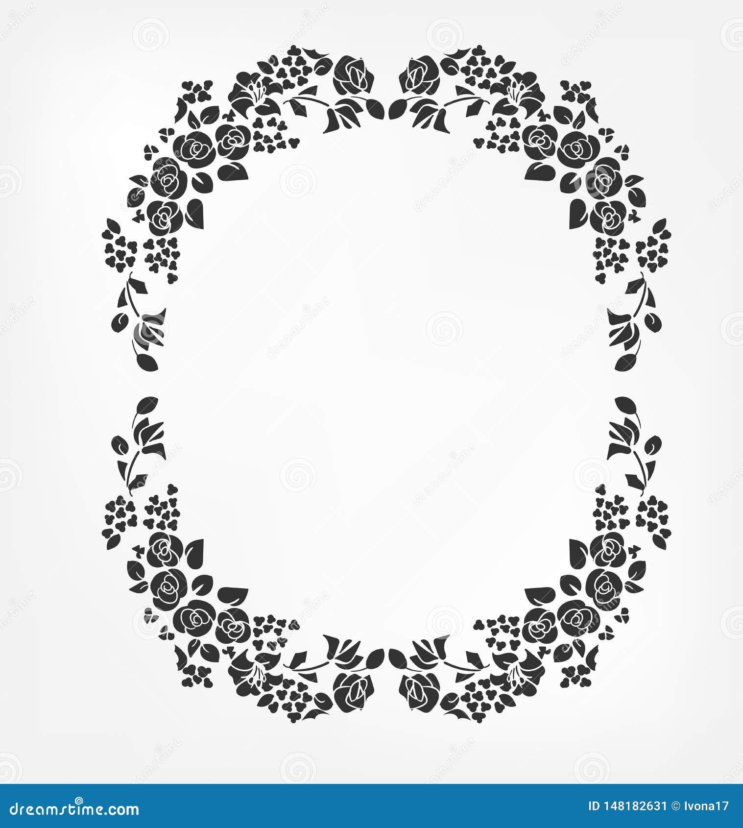 Vektor Victorian, den barocke Gestaltungselemente blühen, stieg Flammenkreis ellipce