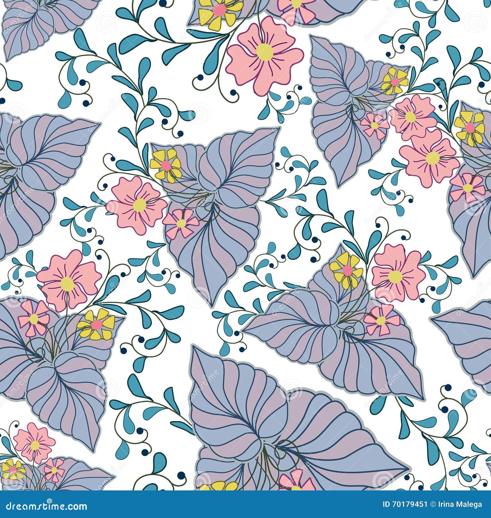 Vektorabstrakt begrepptextur med abstrakta blommor