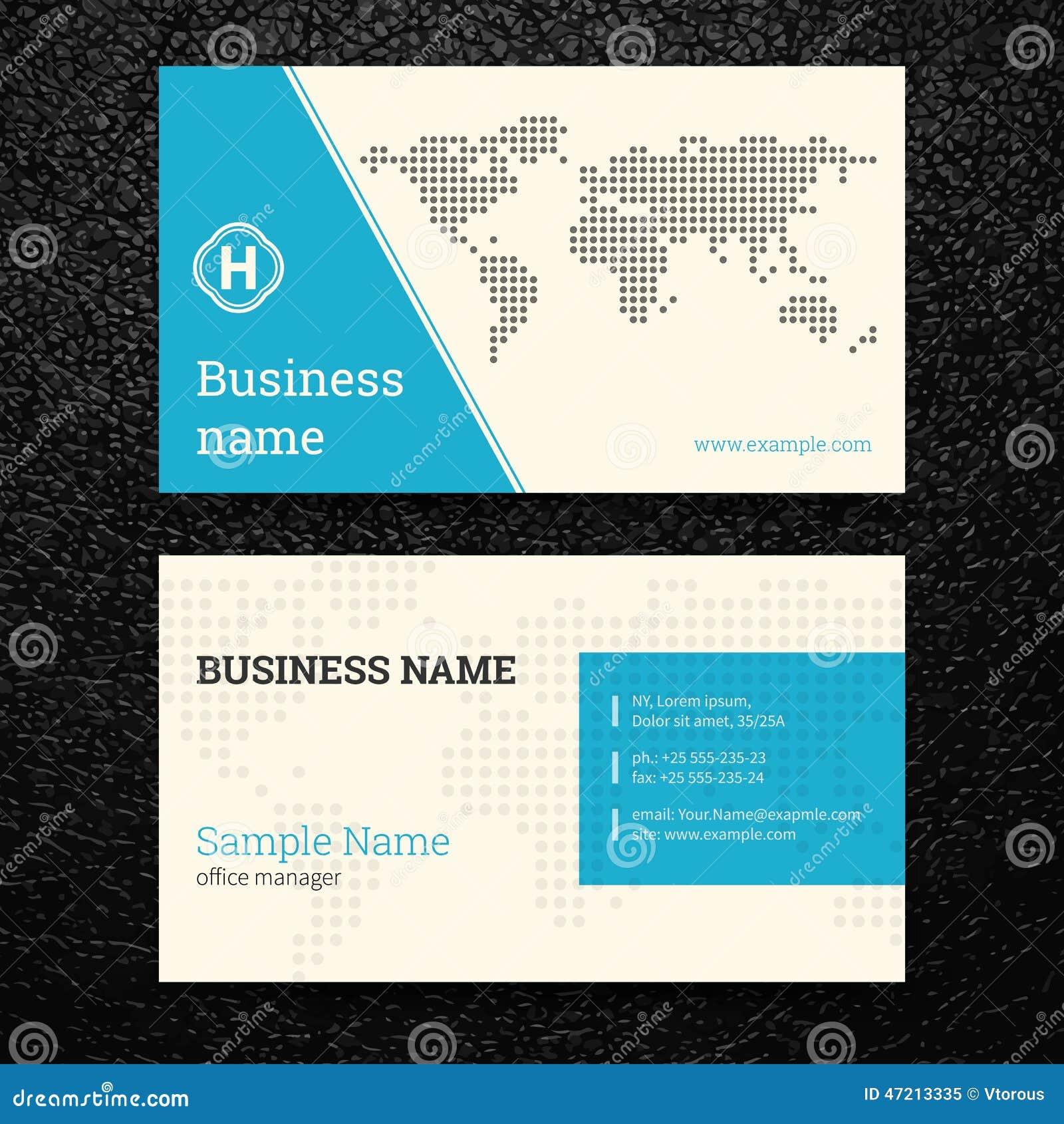 Vektorabstrakte Kreative Visitenkarten Vektor Abbildung