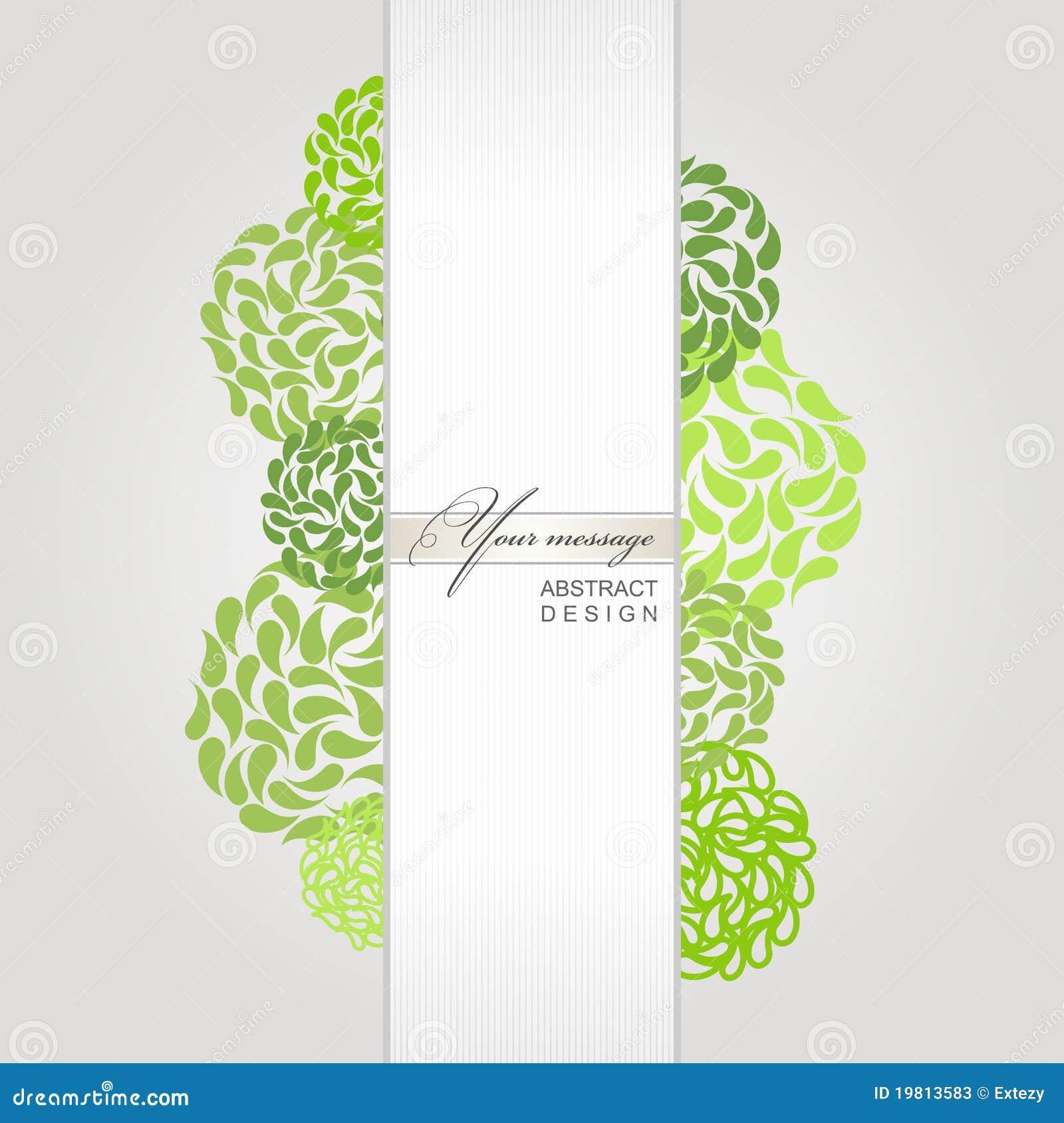 Vektorabstrakter Fahnen-Grünhintergrund