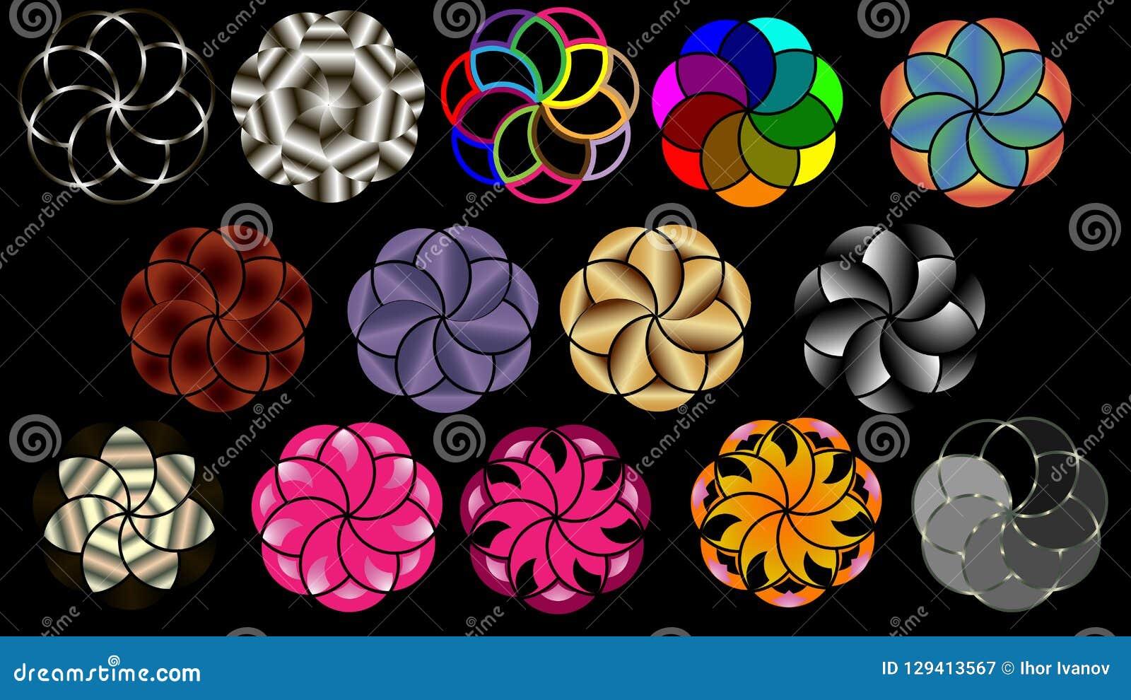 Vektorbakgrund av koncentriska cirklar