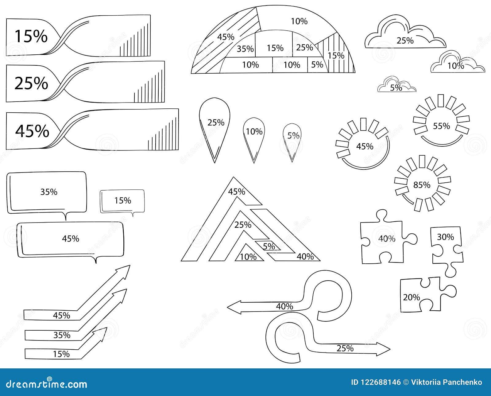 Vektorbeståndsdelar för infographic Mall för cirkuleringsdiagram, graf, presentation och runt diagram Affärsidé med