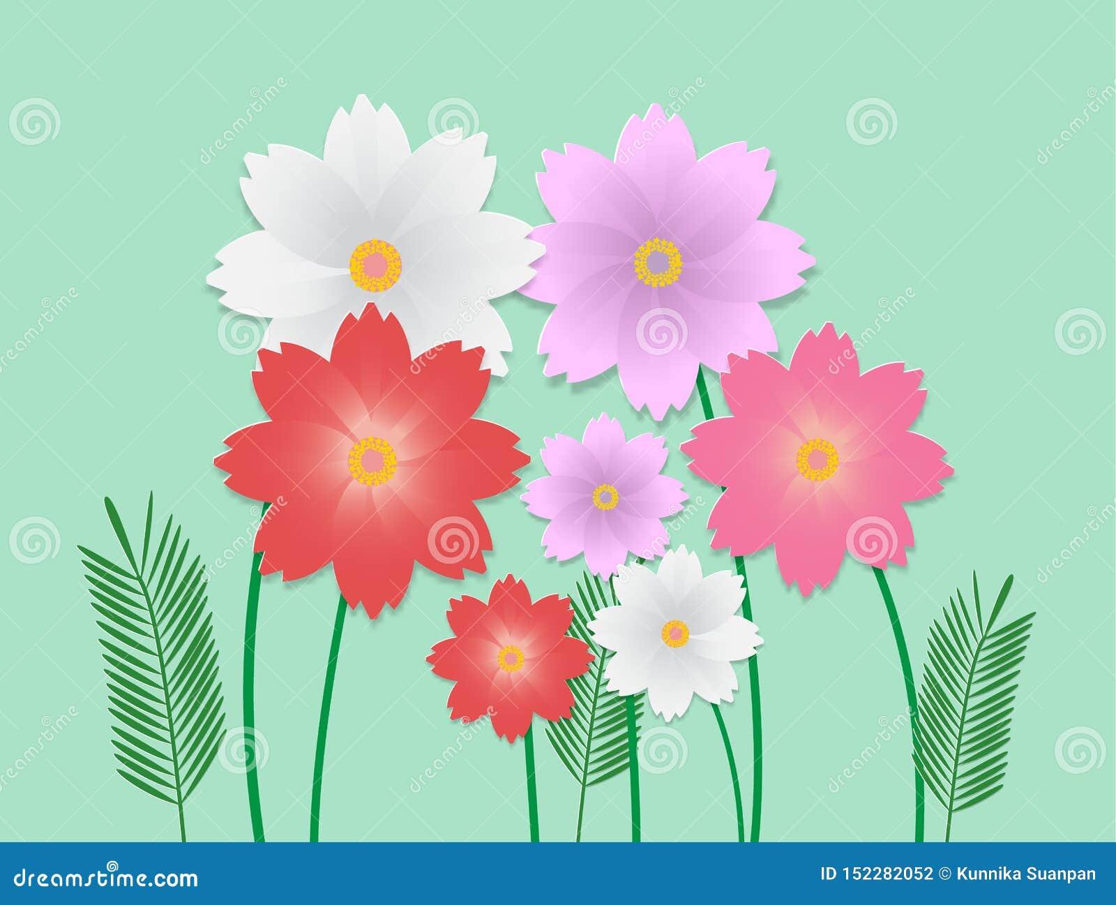 Vektorbild av den färgrika blomman