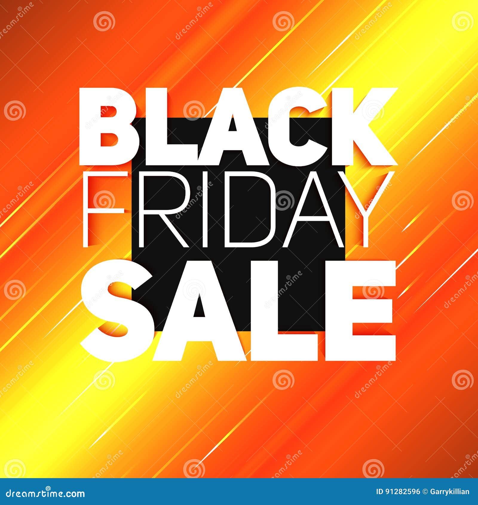 VektorBlack Friday Sale bakgrund med den glänsande strålen av energi Vektorillustration på ljus - orange bakgrund
