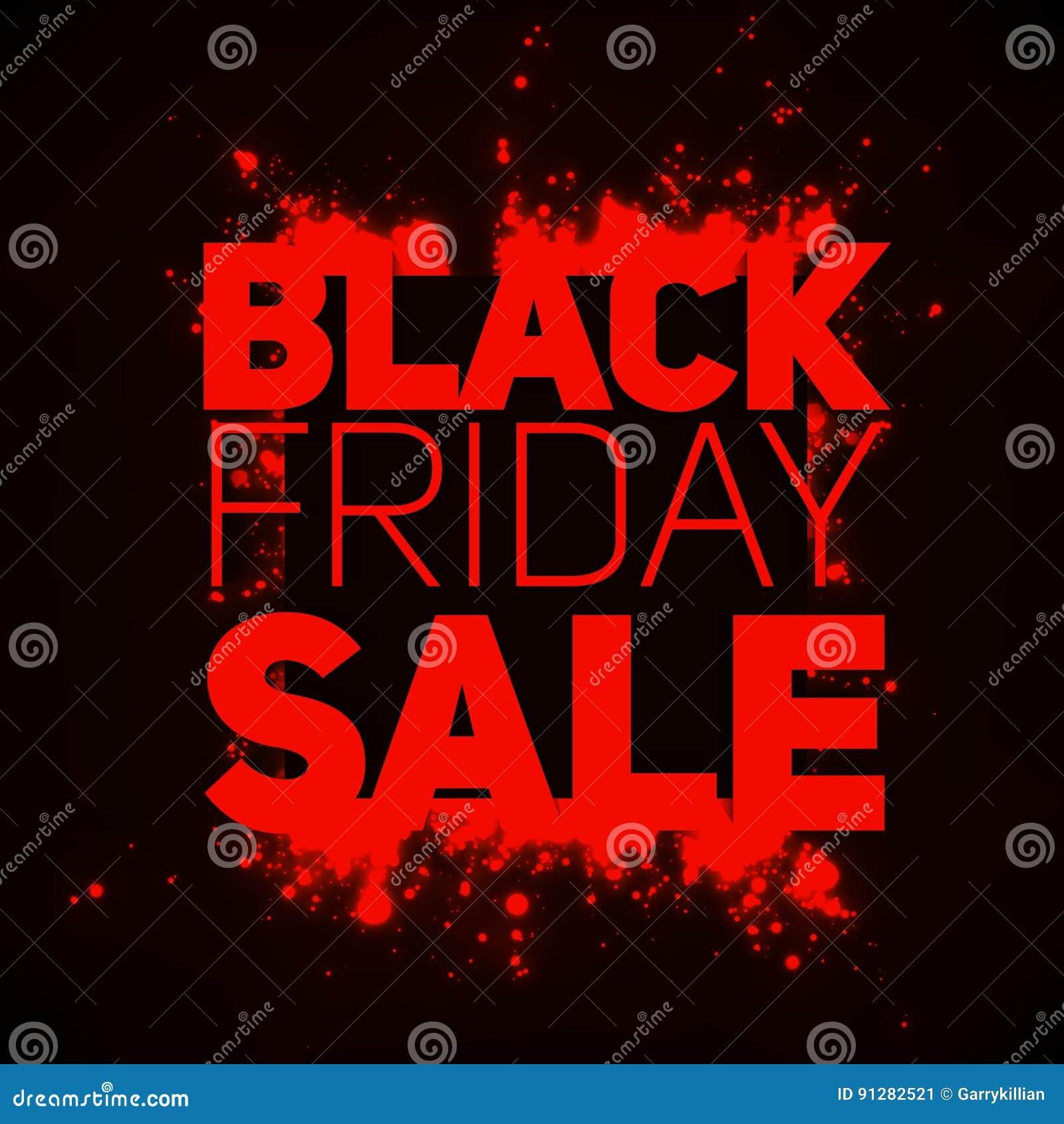 VektorBlack Friday Sale bakgrund med glänsande tryckvåg av rött mousserar Vektorillustration på mörk bakgrund