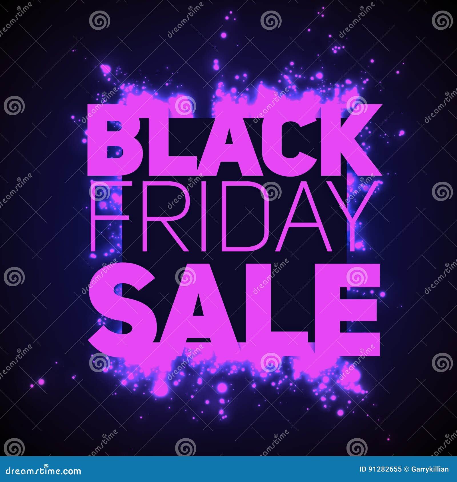 VektorBlack Friday Sale bakgrund med glänsande tryckvåg av violeten mousserar Vektorillustration på mörk bakgrund