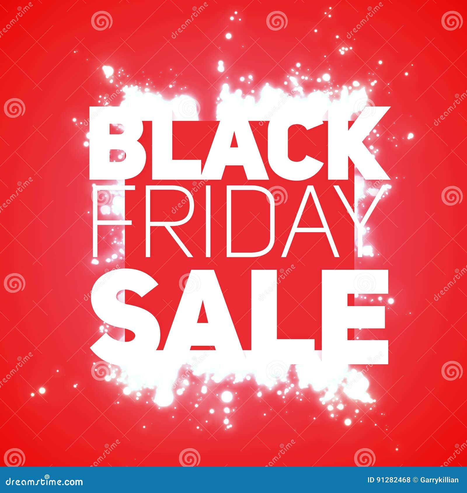 VektorBlack Friday Sale bakgrund med glänsande tryckvåg av vit mousserar Vektorillustration på röd bakgrund