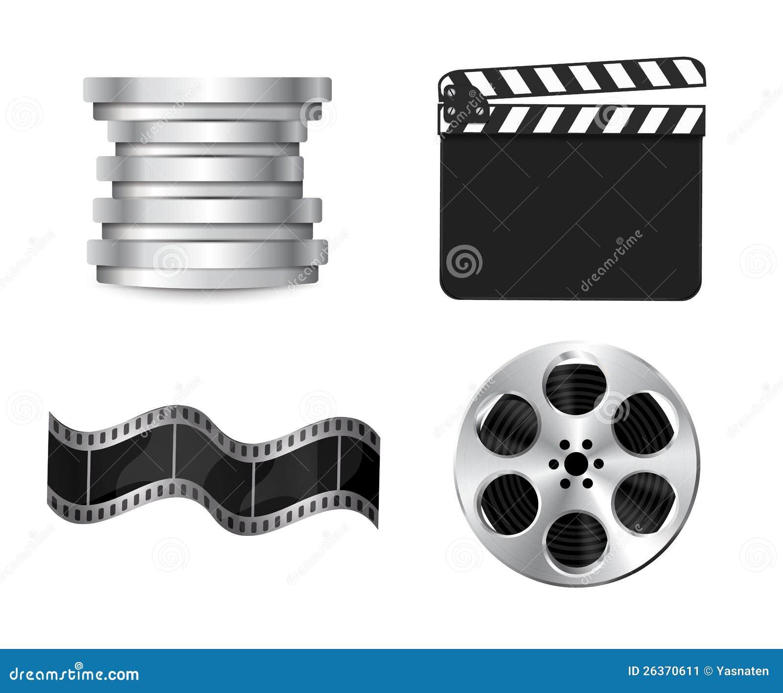 Download Vektorclapperboard stock abbildung. Illustration von clip - 26370611