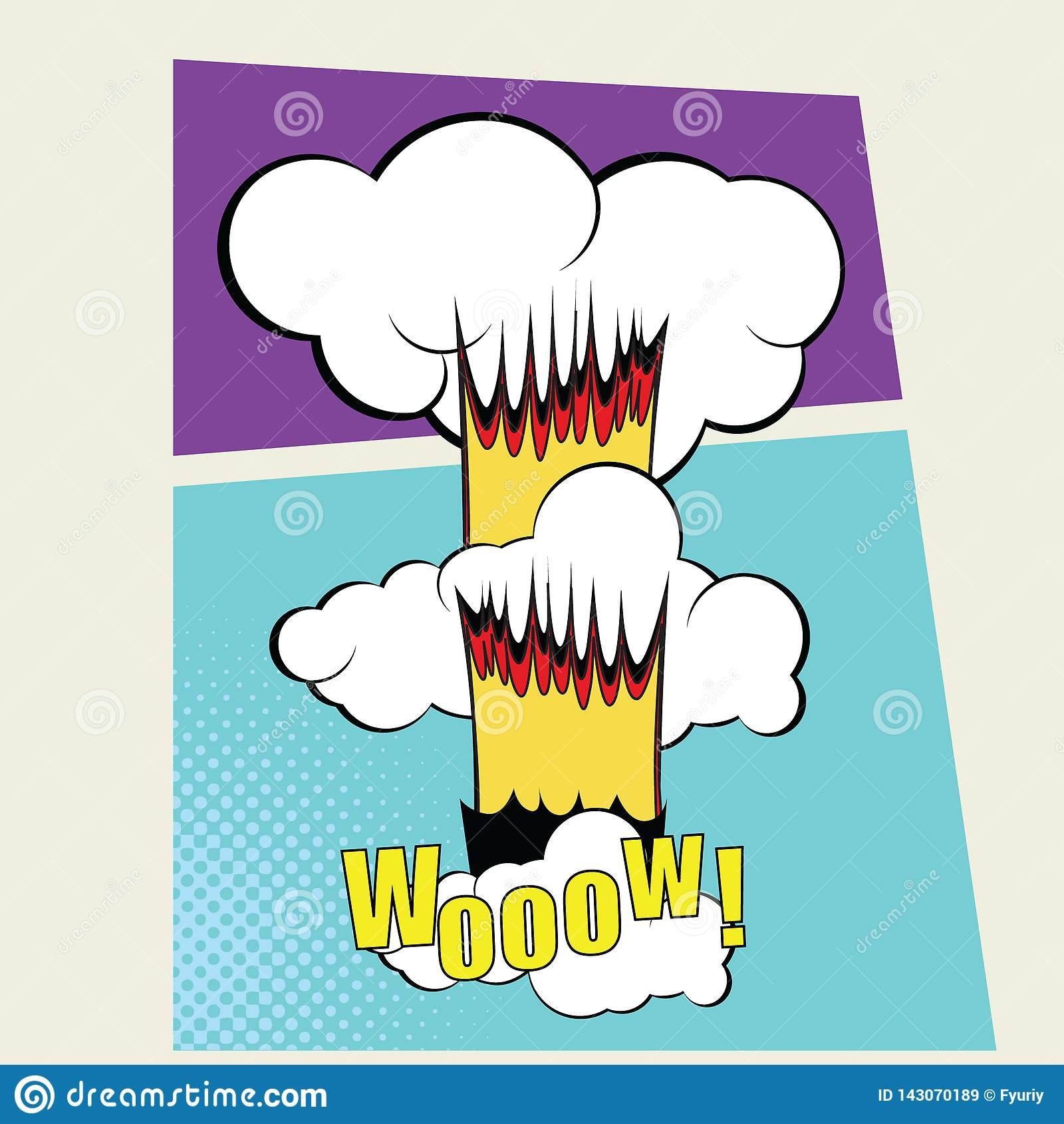 Vektorcomic-buch Seiten-Design-Schablone farbe
