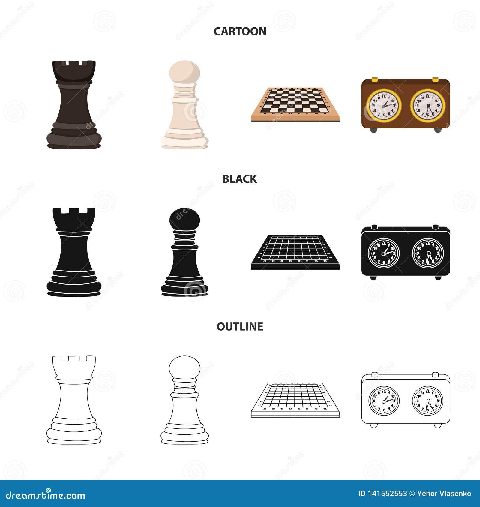 Vektordesign av det schackmatta och tunna tecknet Samling av schackmatt och illustrationen för målmaterielvektor
