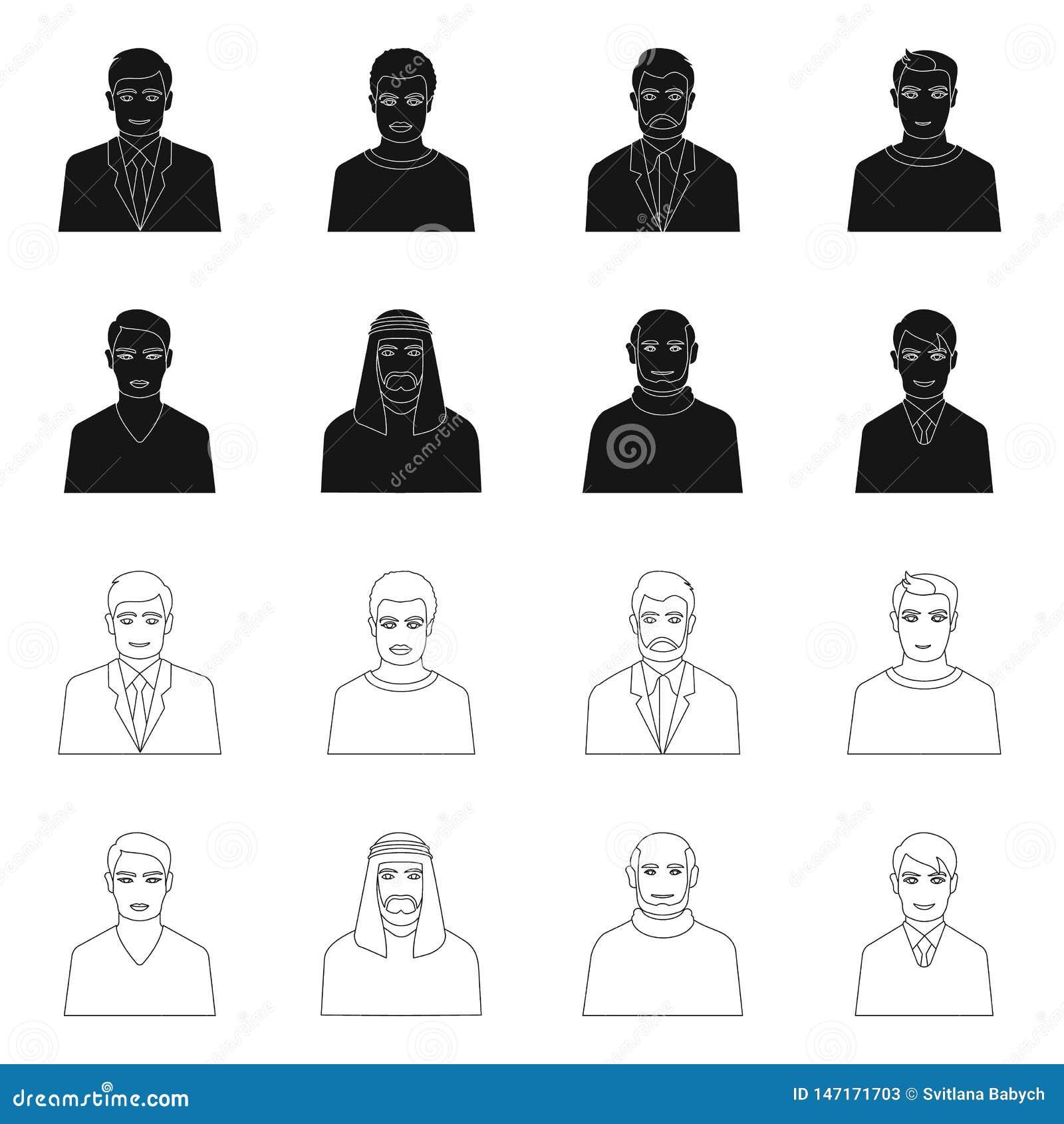 Vektordesign av frisyr- och yrkelogoen St?ll in av illustration f?r frisyr- och teckenmaterielvektor