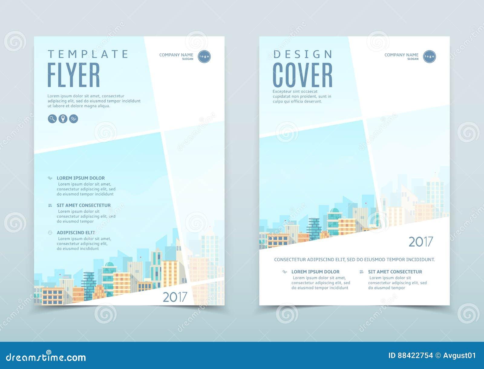 Vektordesign av reklambladmallen