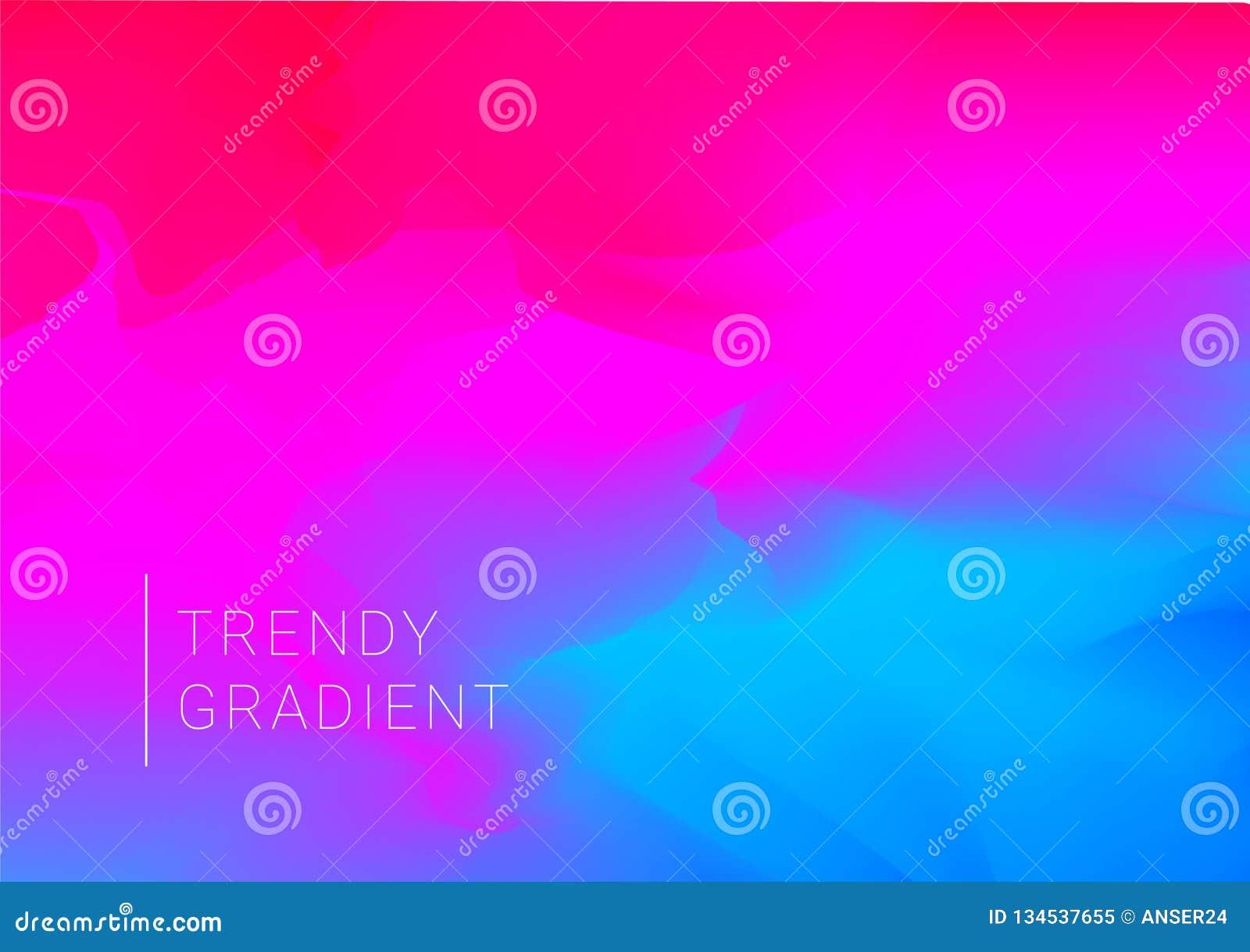 Vektordesignmall i moderiktiga vibrerande lutningfärger med abstrakta former