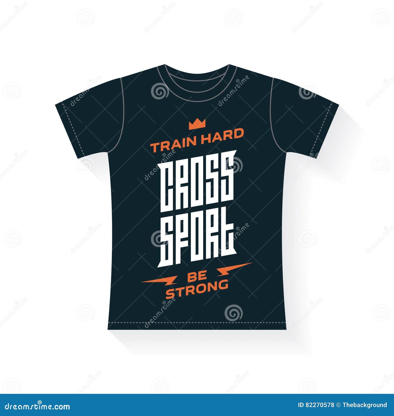 Vektoremblem Für T-Shirt Quersport - Druck Mit Vorlage Ließ Vektor ...