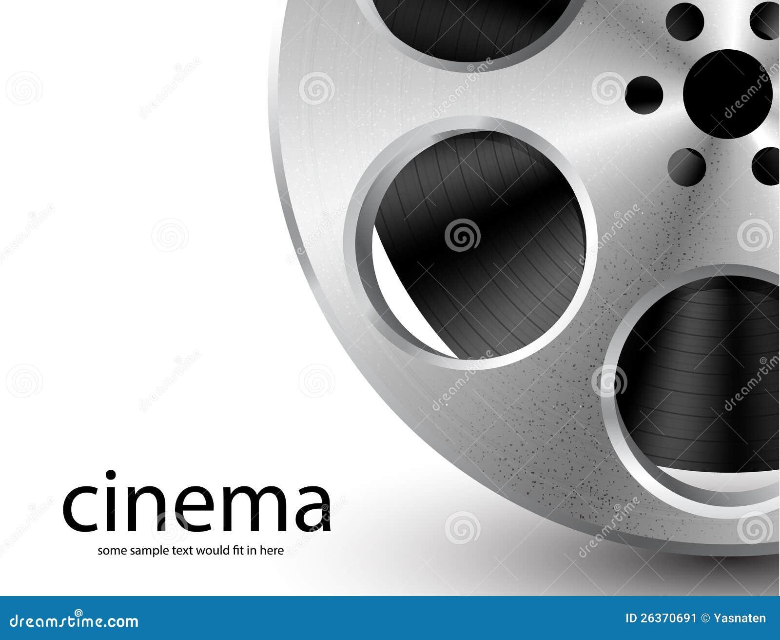 Download Vektorfilmbandspule stock abbildung. Illustration von kino - 26370691