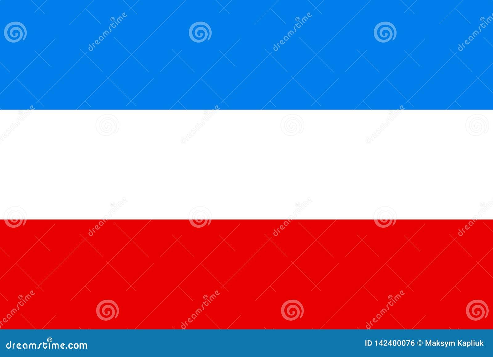Vektorflagge von Mannheim-Stadt, Baden-Wü rttemberg, Deutschland Vektorflaggenillustration