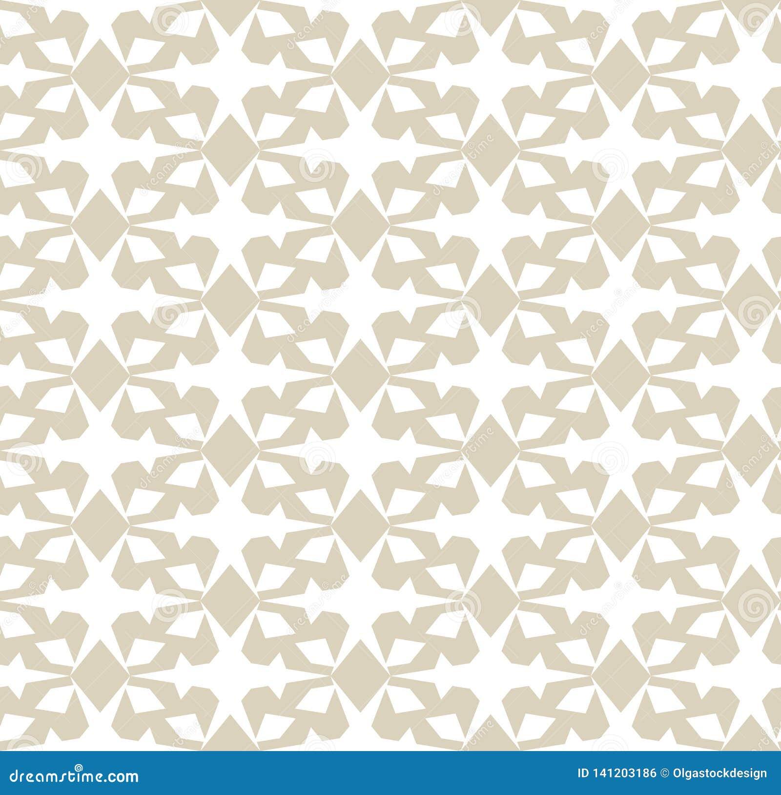 Vektorgeometrisches nahtloses Muster Elegantes Gold und weißer Verzierungshintergrund