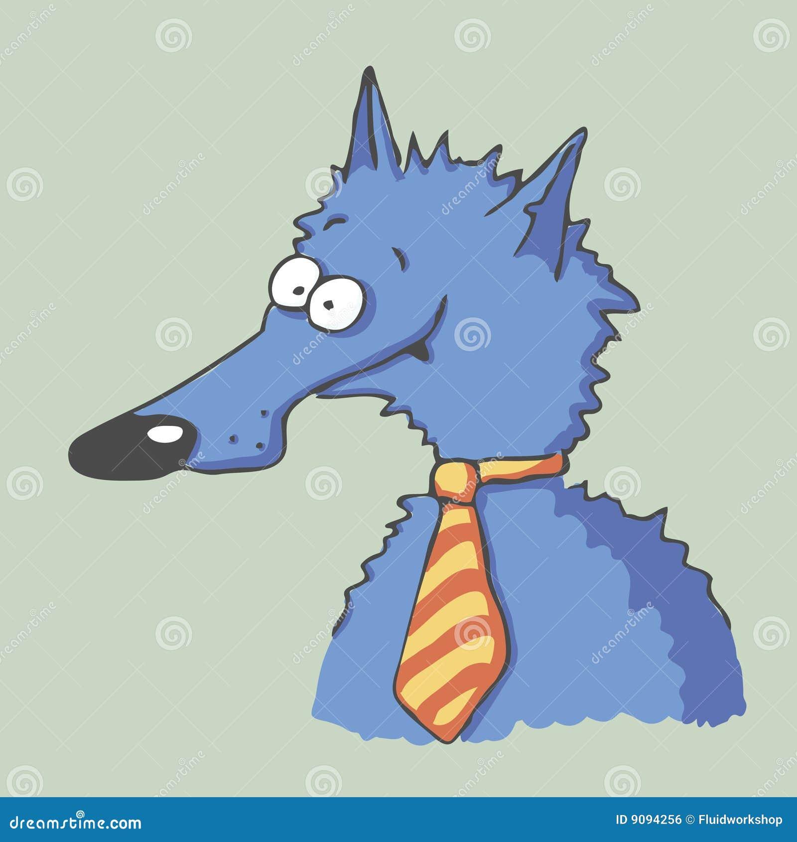 Vektorgeschäftsmann-Wolf