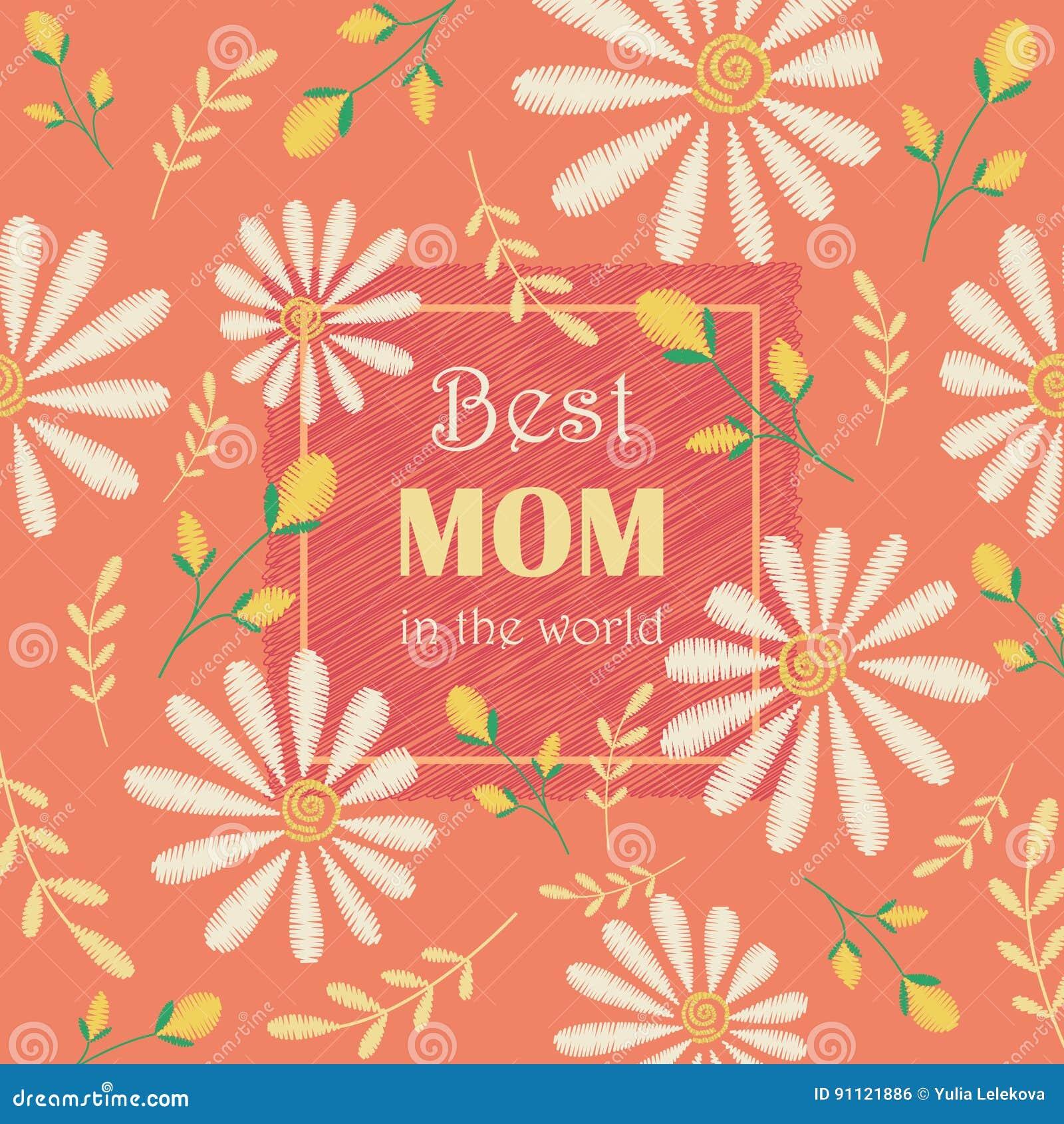 Vektorgruß Kartendesign Zum Muttertag Beste Mutter In Der Welt