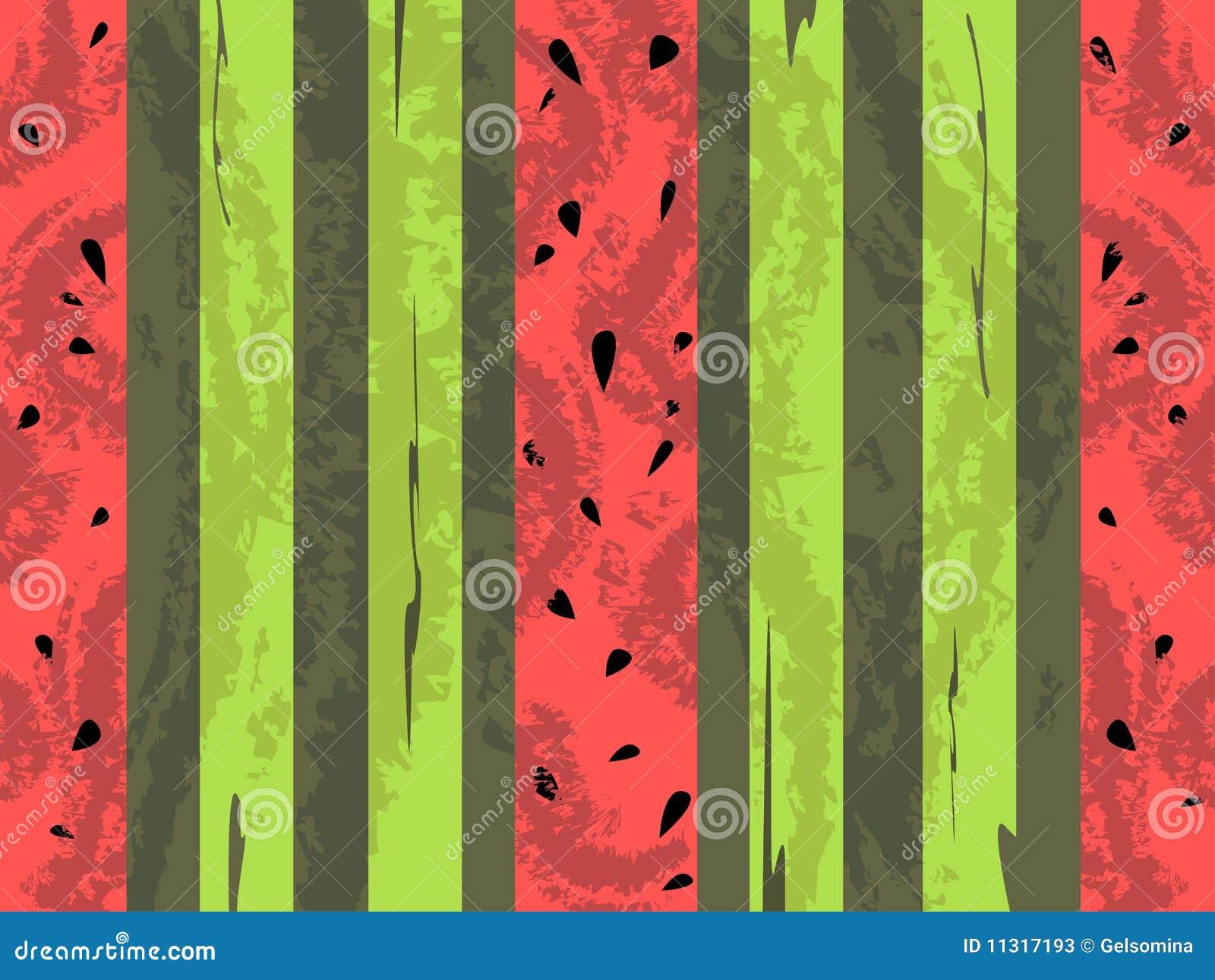 Vektorgrunge Wassermelonehintergrund
