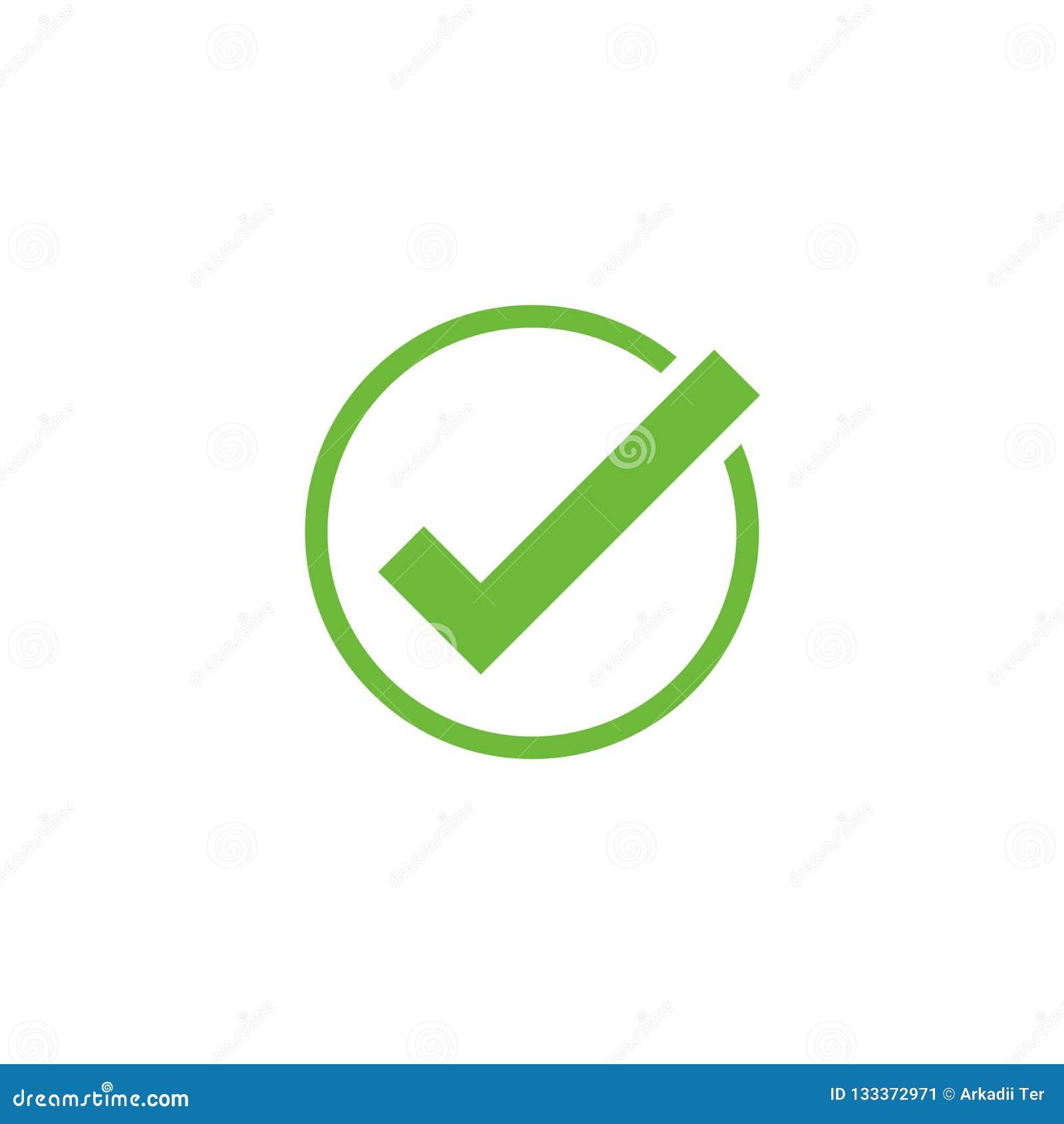 Vektorhäkchenikone Genehmigen Sie Symbol Häkchenform Gestaltungselement bewegliche App-Schnittstellenkarte oder Website