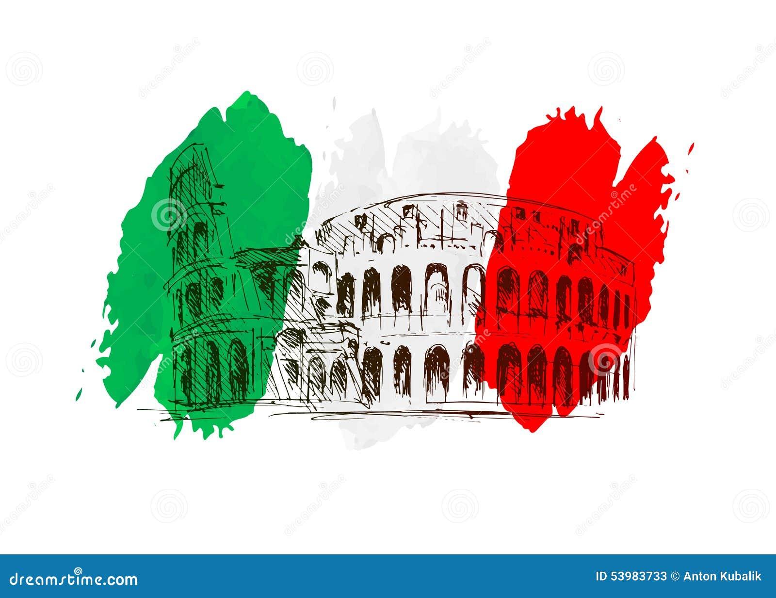 Vektorhintergrund mit Italien-Motiv