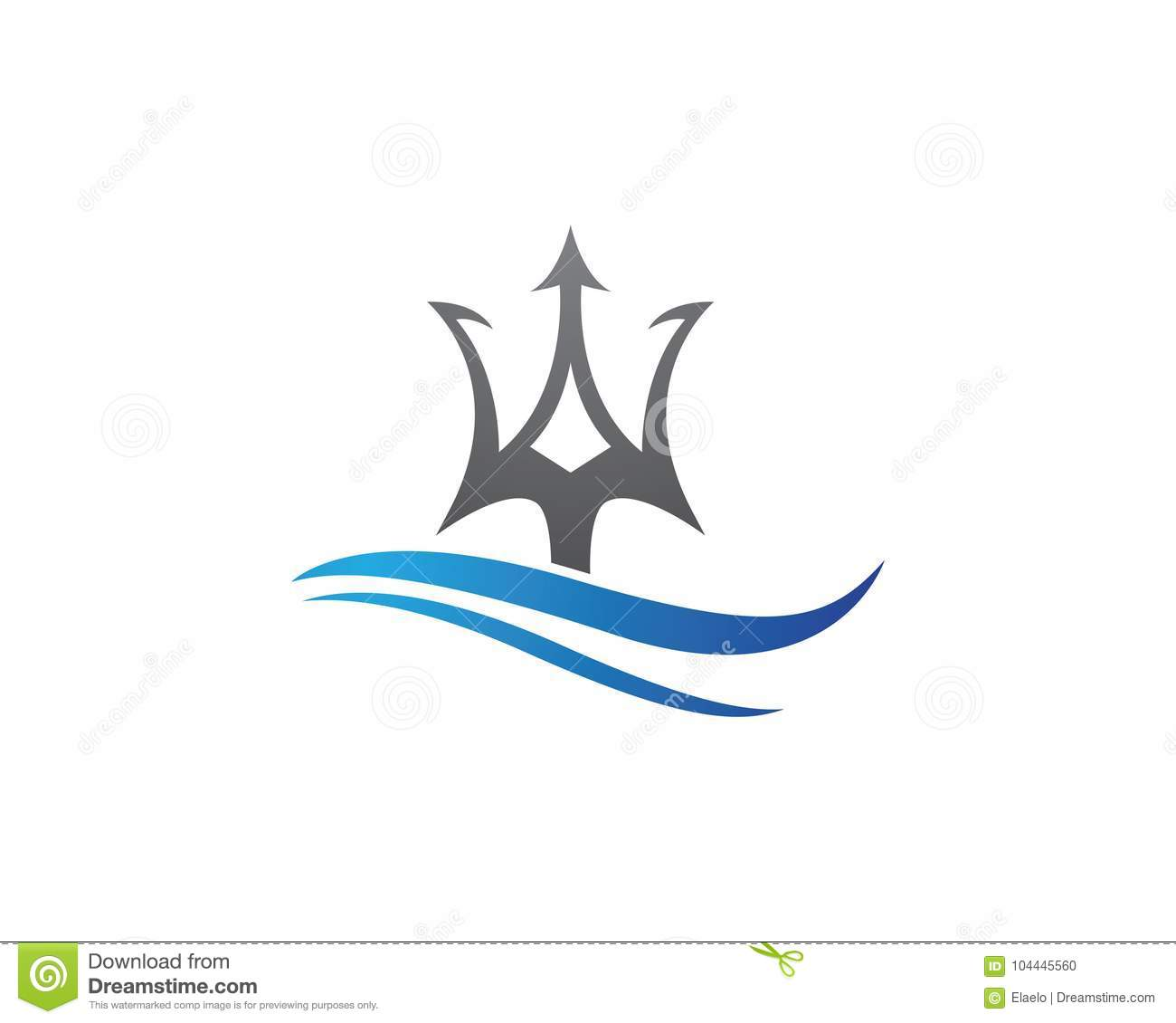 Vektorikone Tridents Logo Template