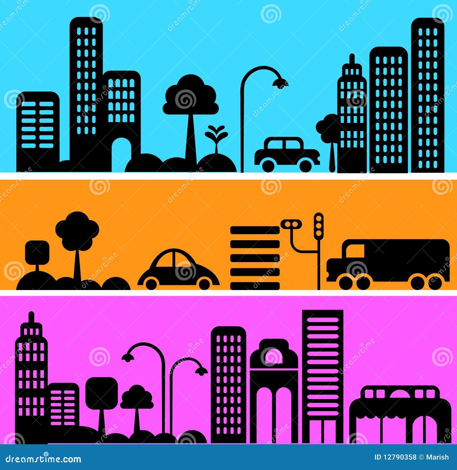 Vektorillustration av den stads- gataplatsen