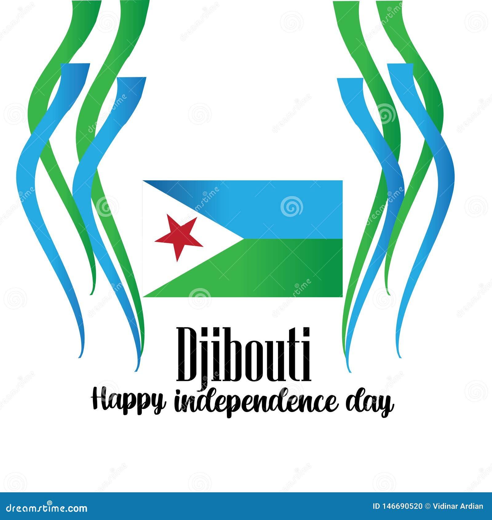 Vektorillustration av en bakgrund f?r Djibouti sj?lvst?ndighetsdagendesign - Mappen f?r vektorn