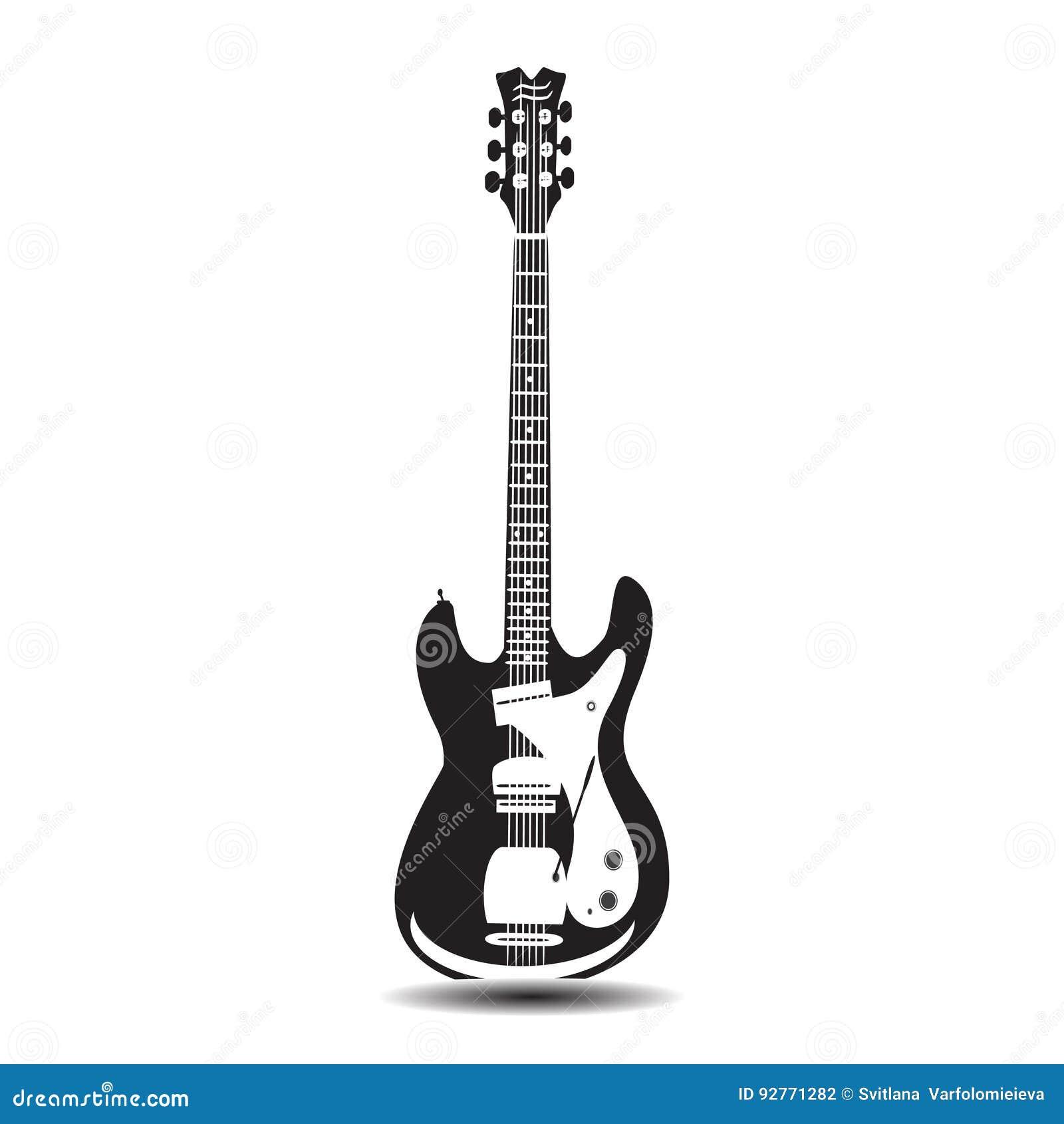 Vektorillustration av för elkraft gitarren solo i plan stil