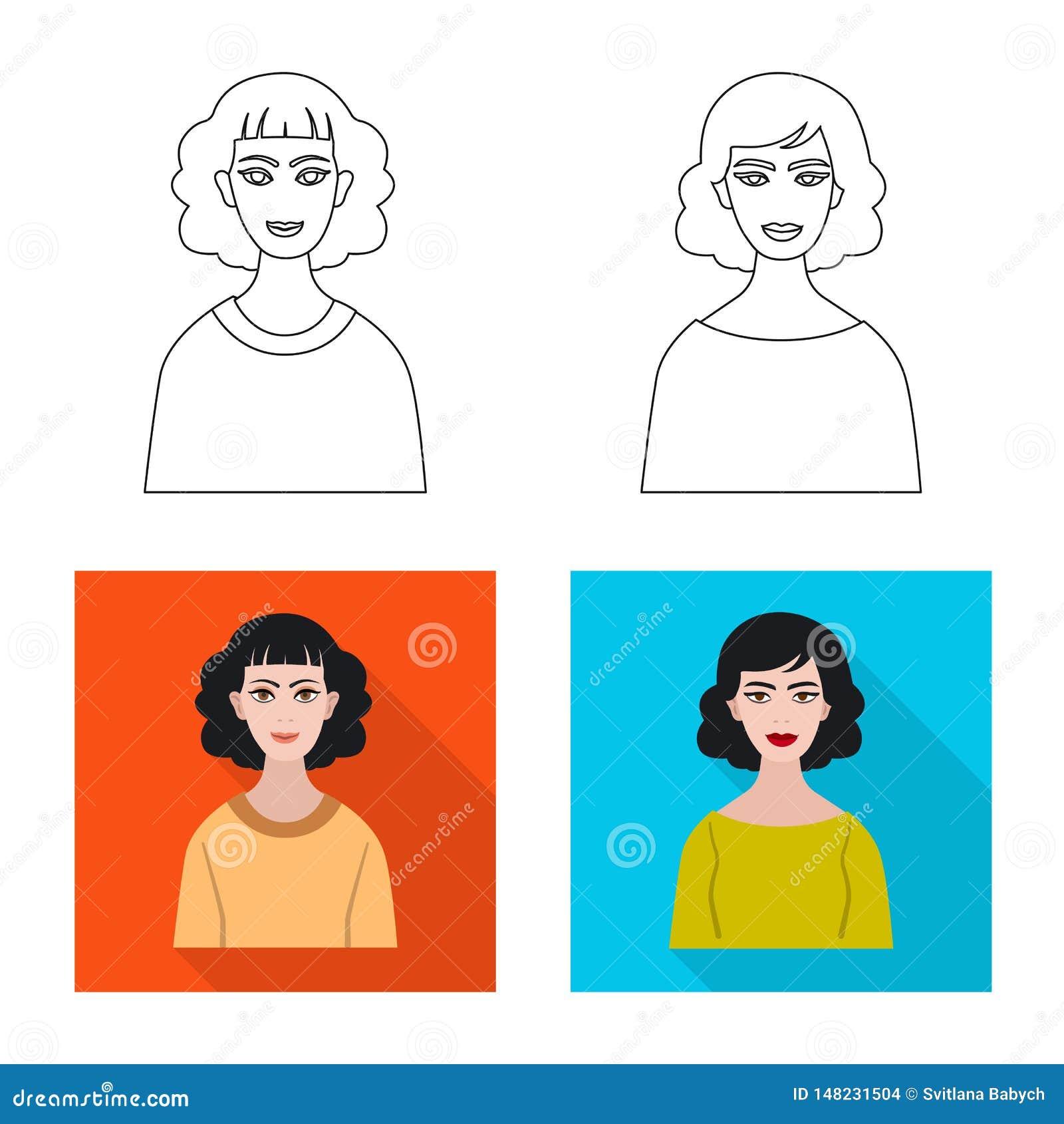 Vektorillustration av frisyr- och yrkelogoen St?ll in av illustration f?r frisyr- och teckenmaterielvektor