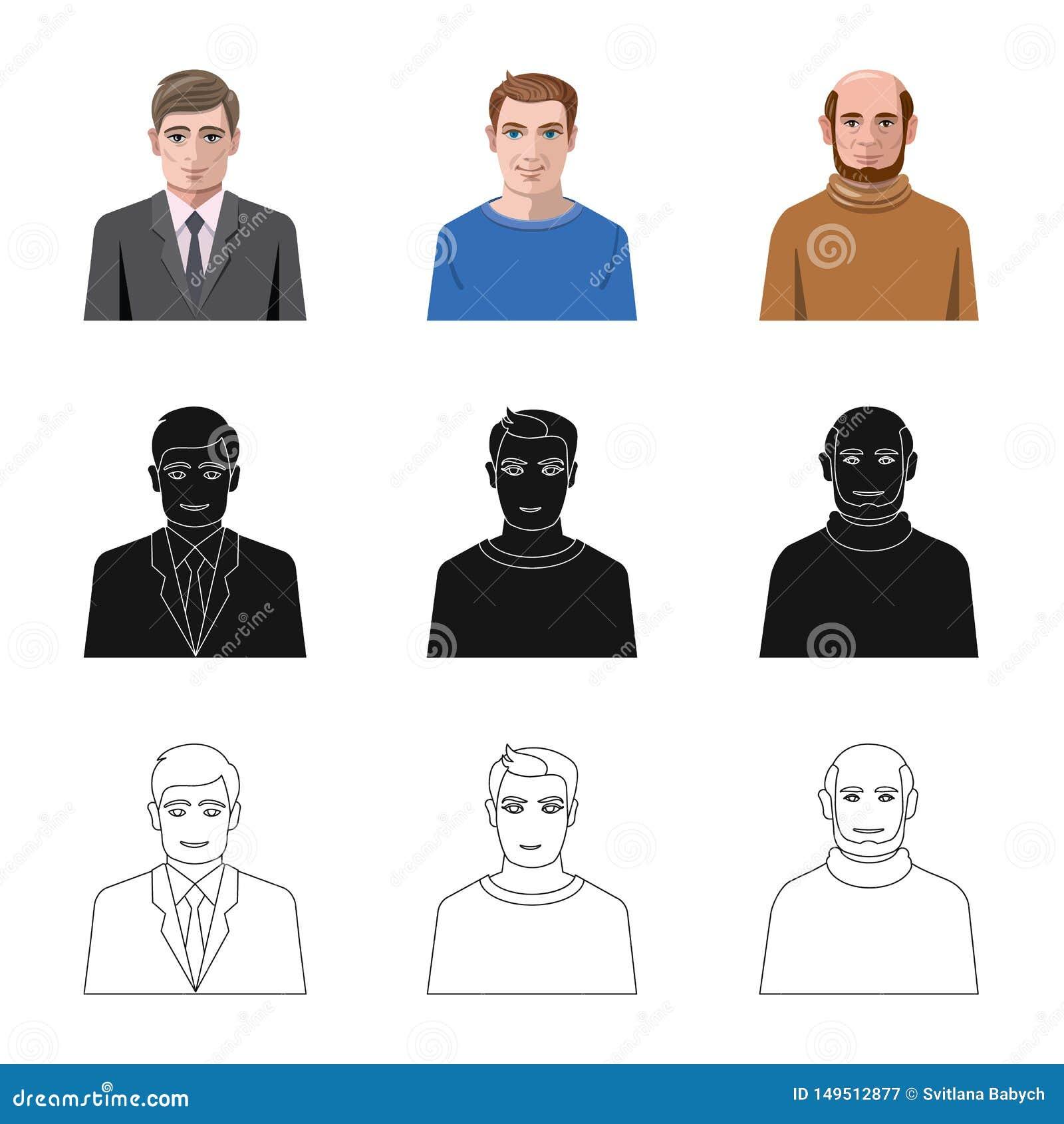 Vektorillustration av frisyr- och yrkesymbolen Samling av frisyr- och teckenvektorsymbolen f?r materiel