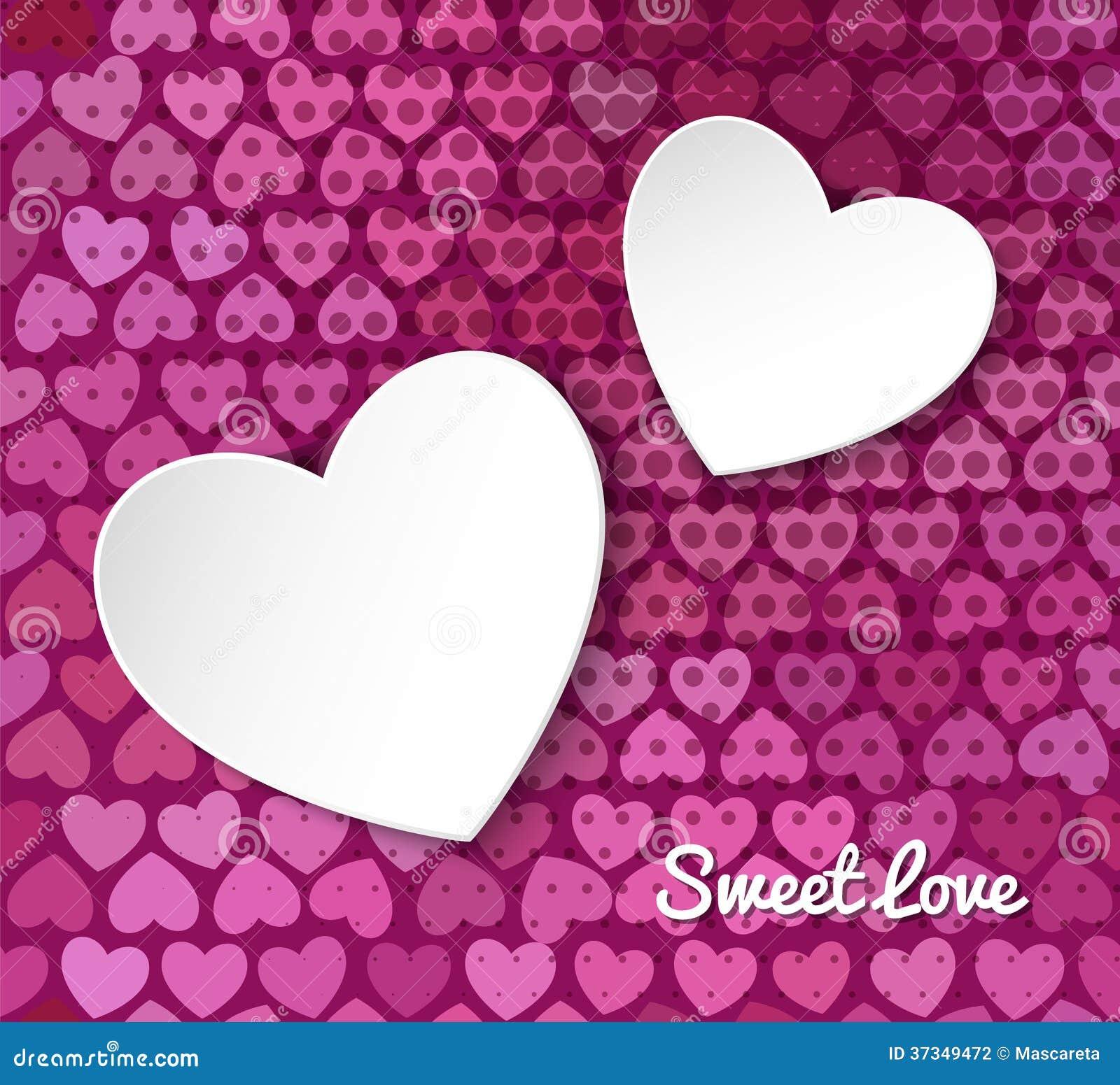 Vektorillustration av hjärta för papper 3d