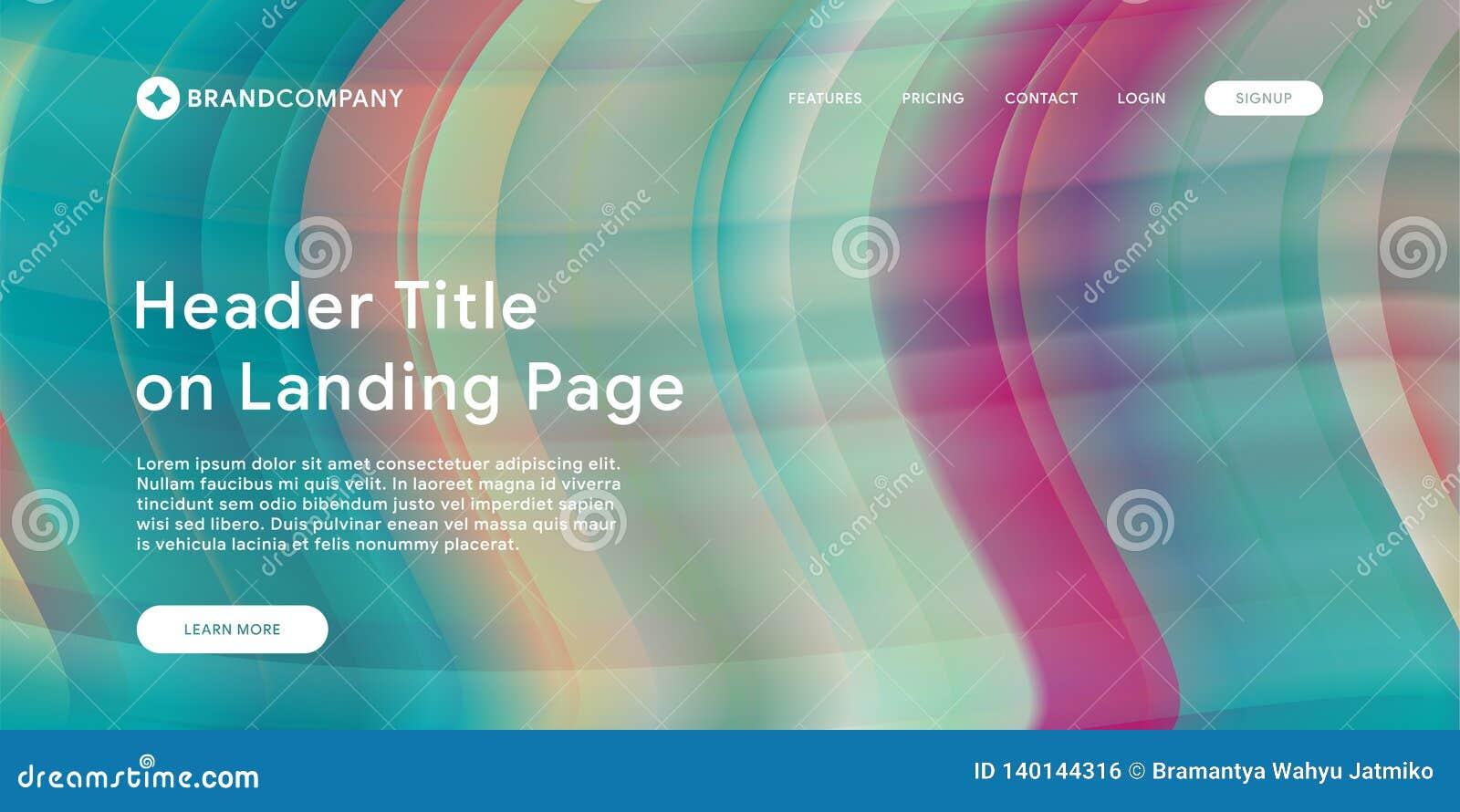 Vektorillustration des kreativen Entwurfs mit flüssigen bunten Formen Modische Farbsteigungen Streifendesign Flüssigkeit formt Zu