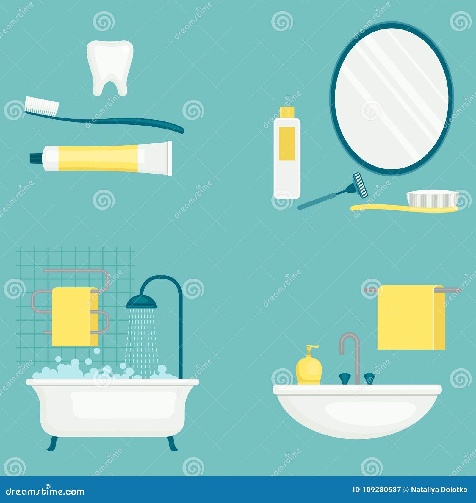Vektorillustration för personlig hygien isolerade fängelsekunder för armomsorg hälsa