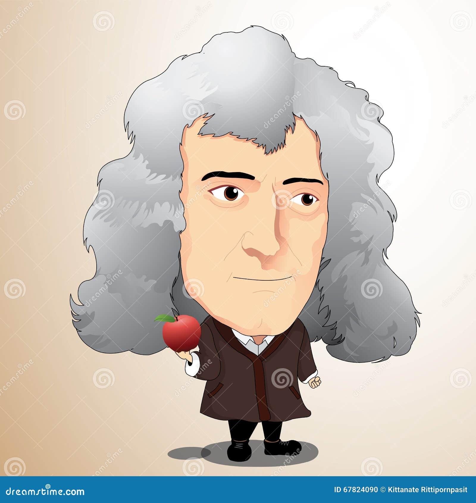 Vektorillustration Sir Isaac Newton Redaktionelles Bild