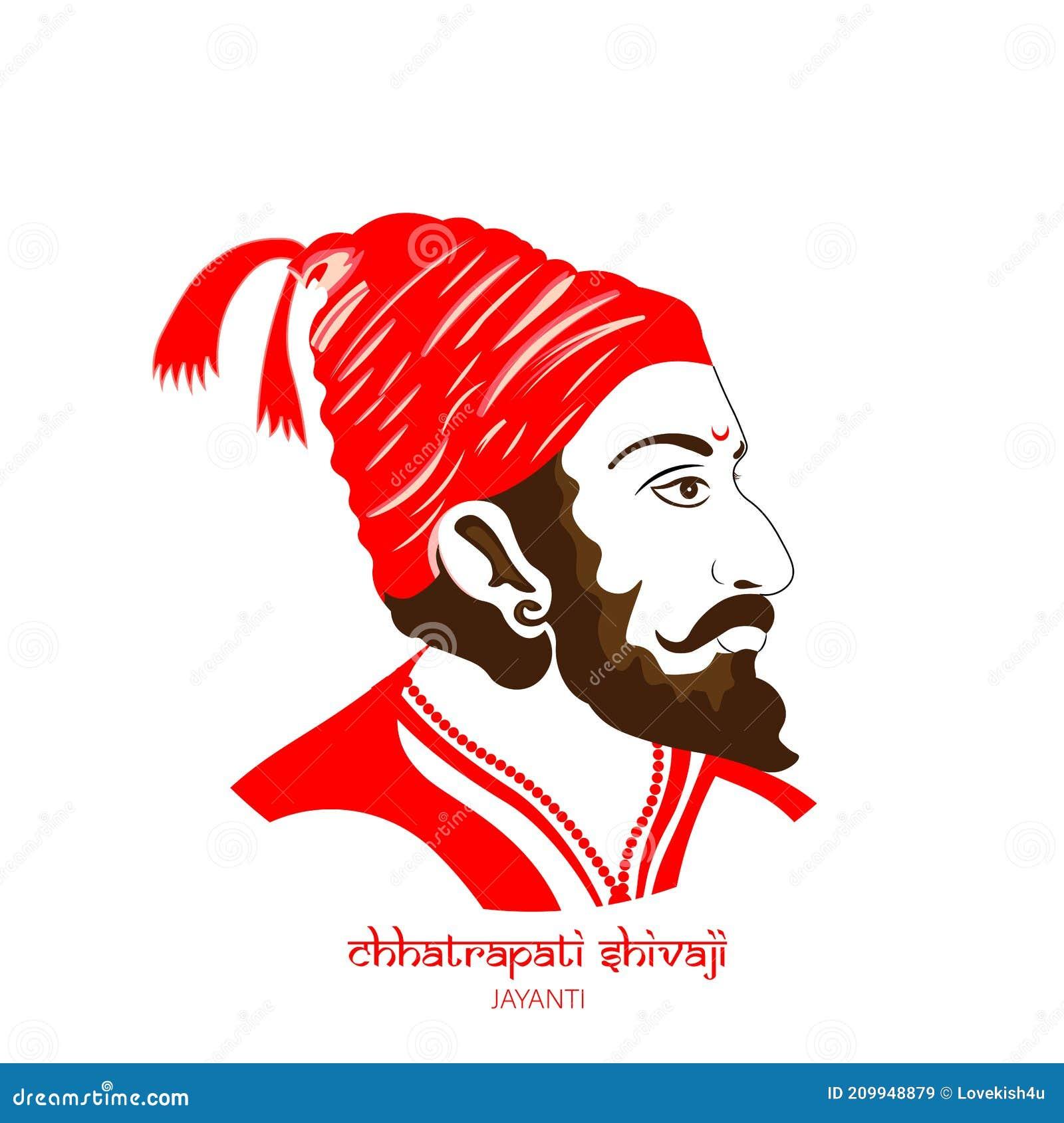 Vektorillustration Von Chatrapati Shivaji Maharaj Maratha Clan Vom ...