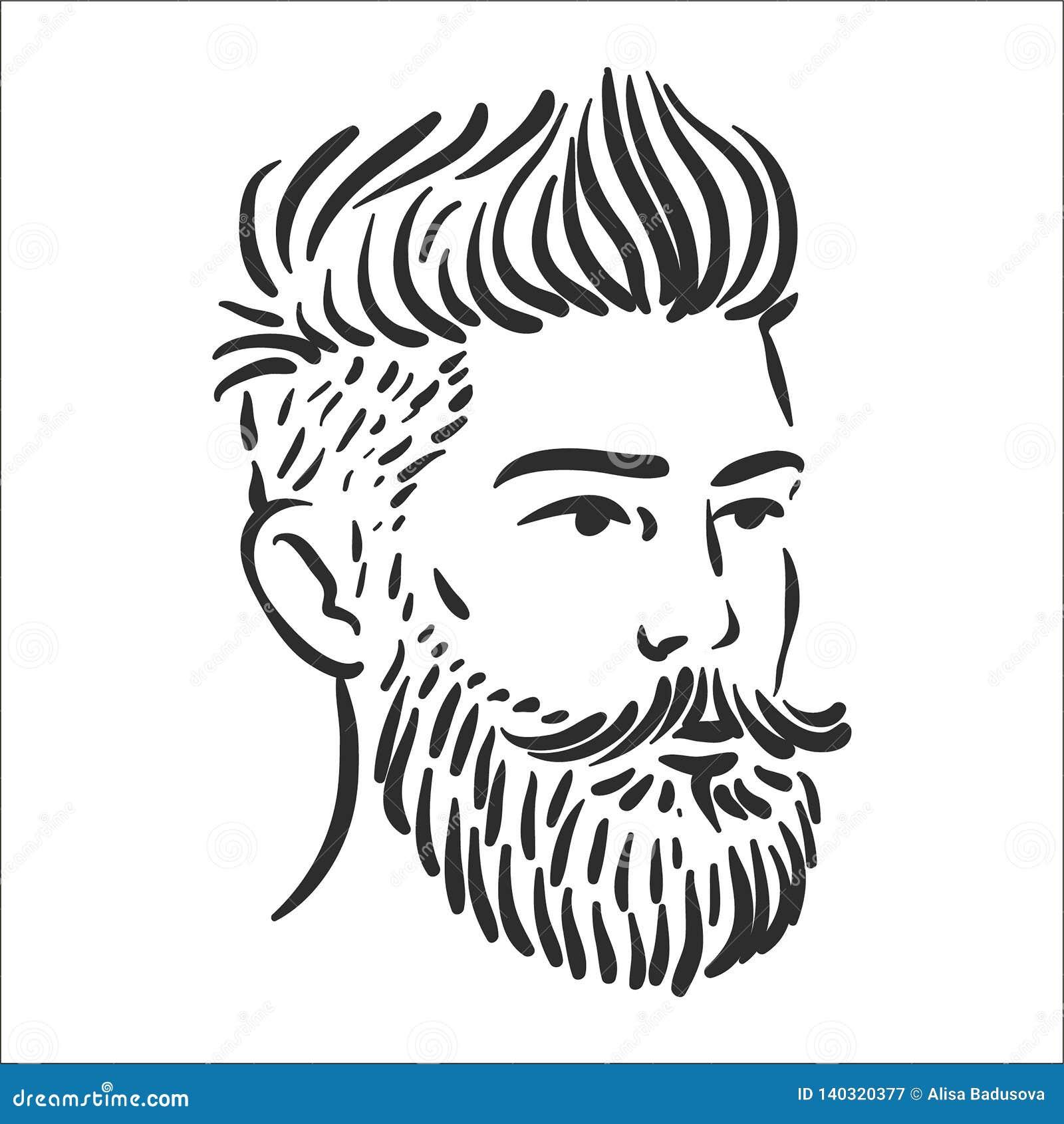 Vektorillustrationbegrepp av Hipsterlinjen konstillustration på vit bakgrund