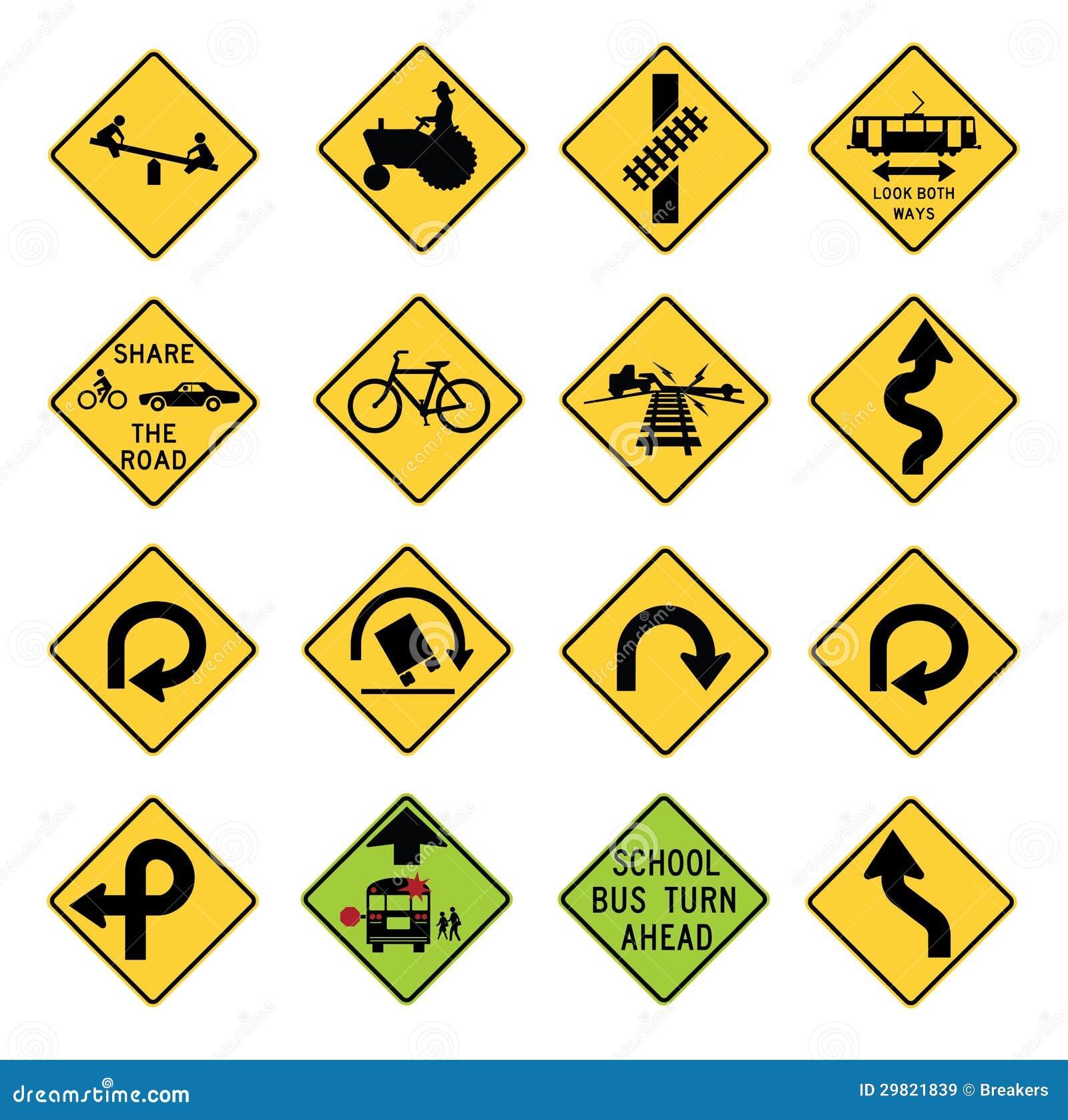 Trafikera varningstecken i Förenta staterna