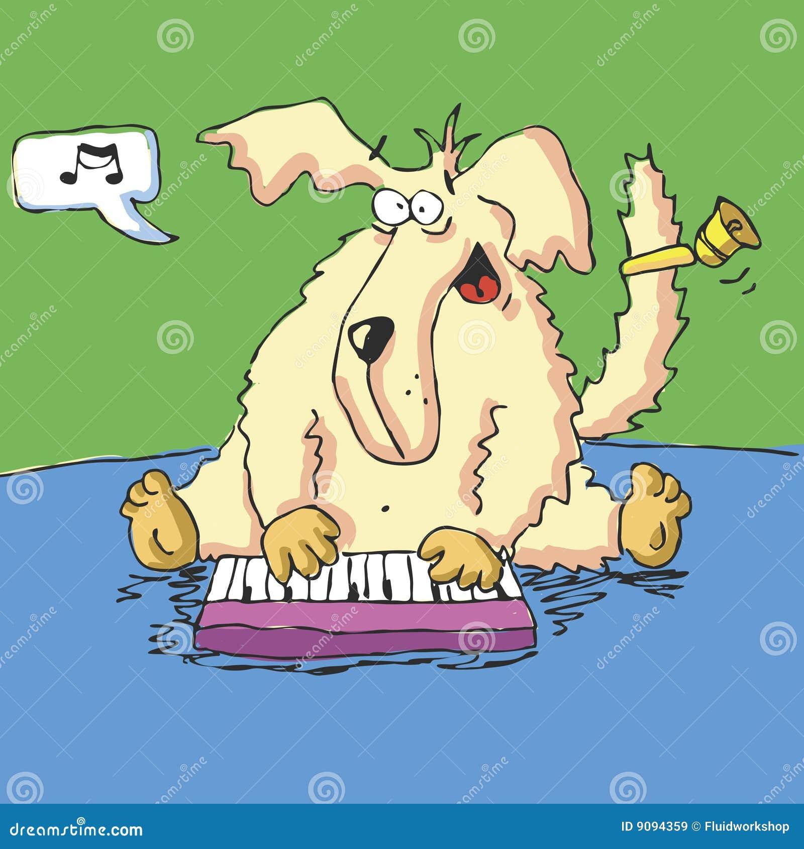 Vektorjagdhund spielt Nizza Musik