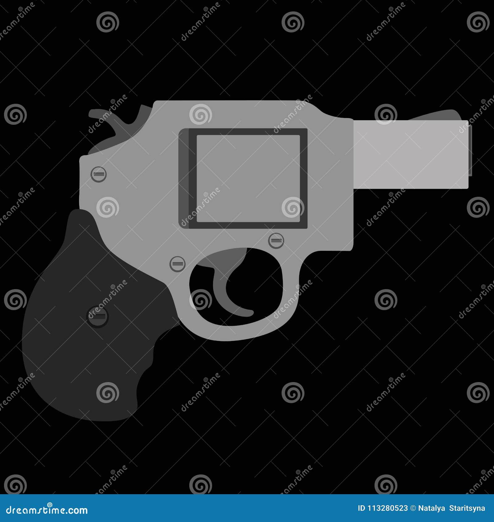 Vektorkarikaturgewehr mit schwarzem Hintergrund
