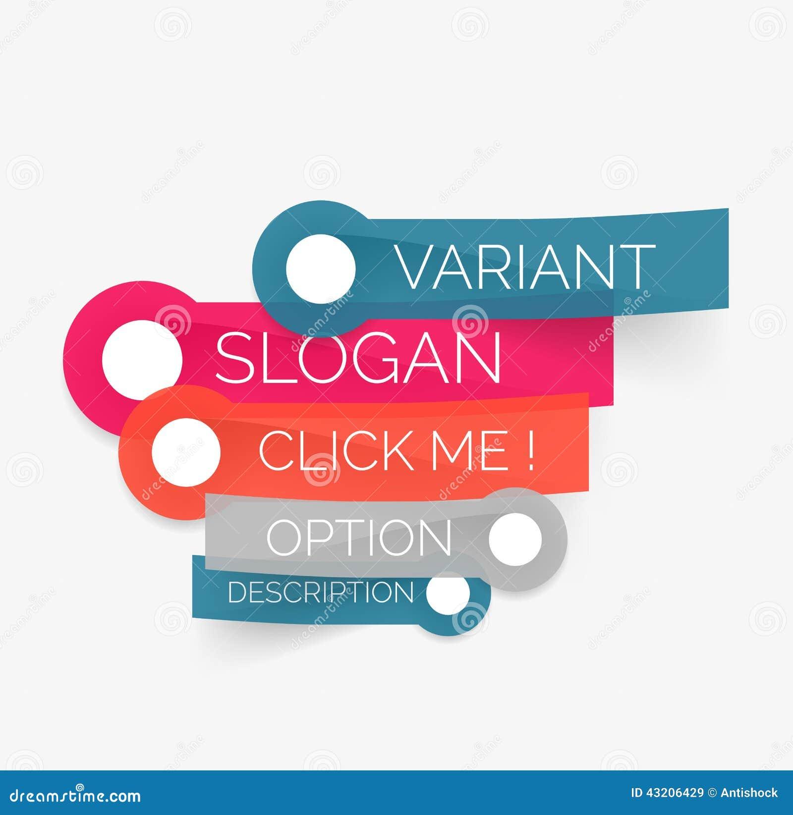 Download Vektorklistermärkear Med Text På Vit Bakgrund Vektor Illustrationer - Illustration av origami, baner: 43206429